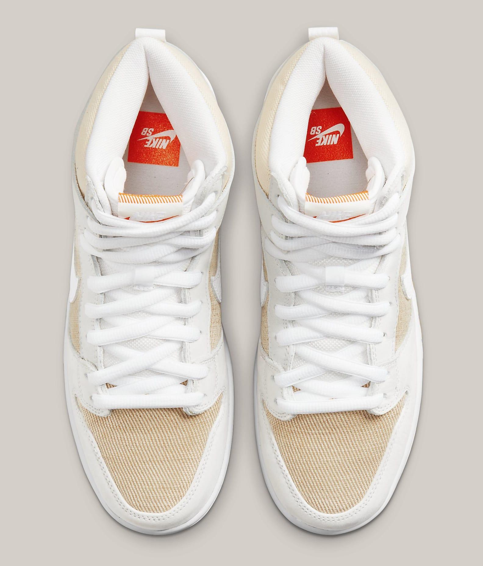 Nike SB Dunk High 'Unbleached' DA9626-100 Top