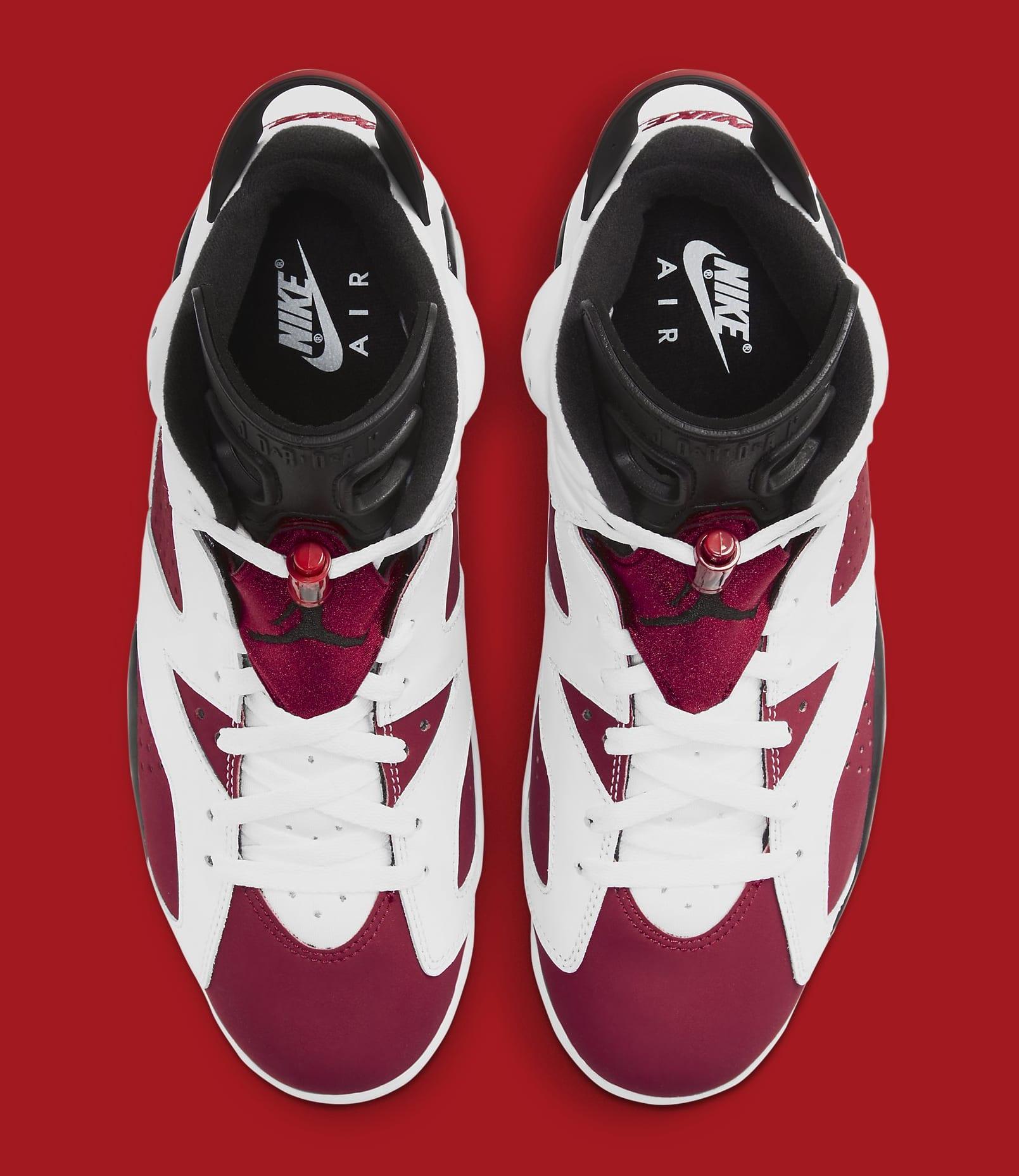 Air Jordan 6 Retro 'Carmine' 2021 CT8529-106 Top