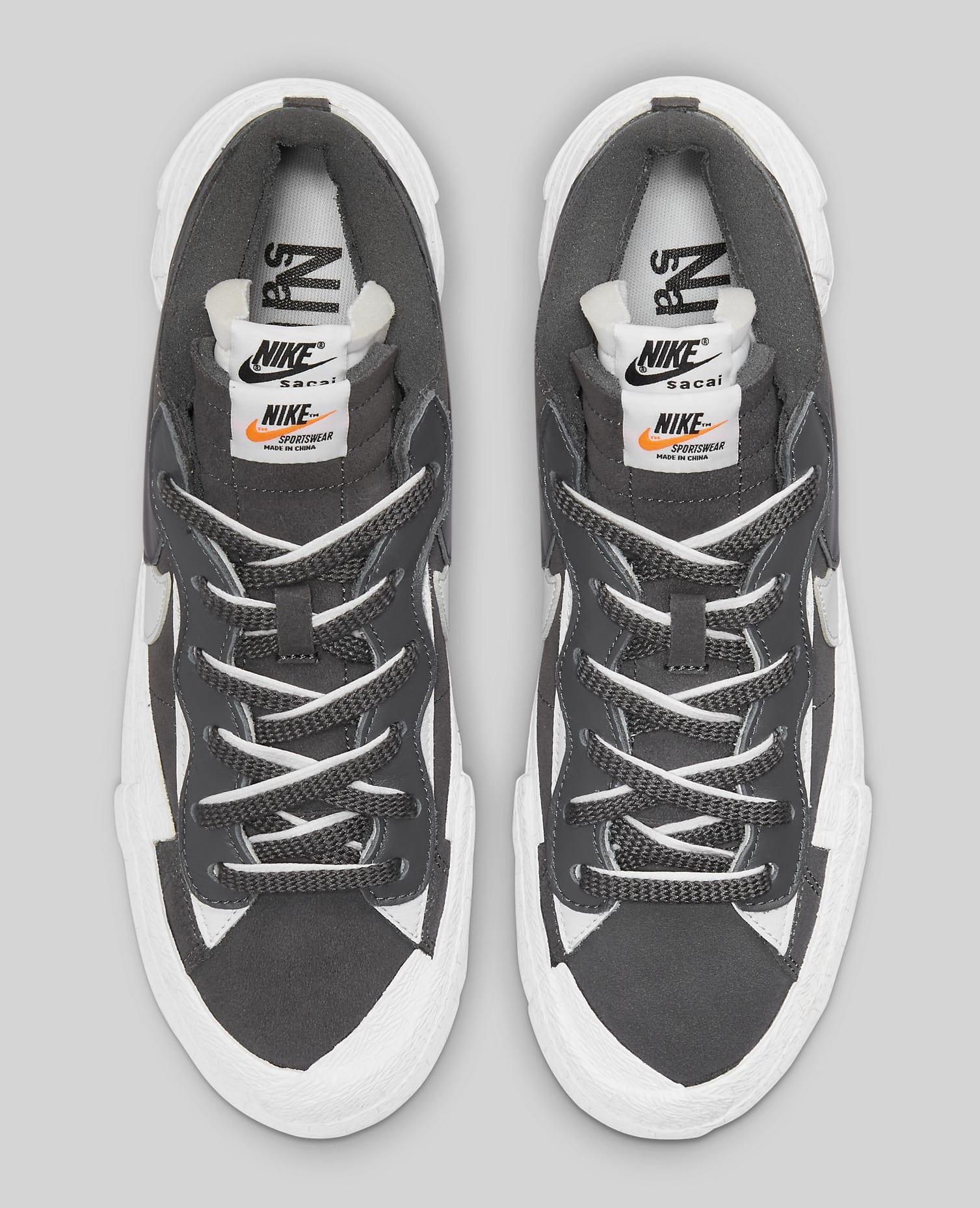 Sacai x Nike Blazer Low 'Iron Grey' DD1877-002 Top