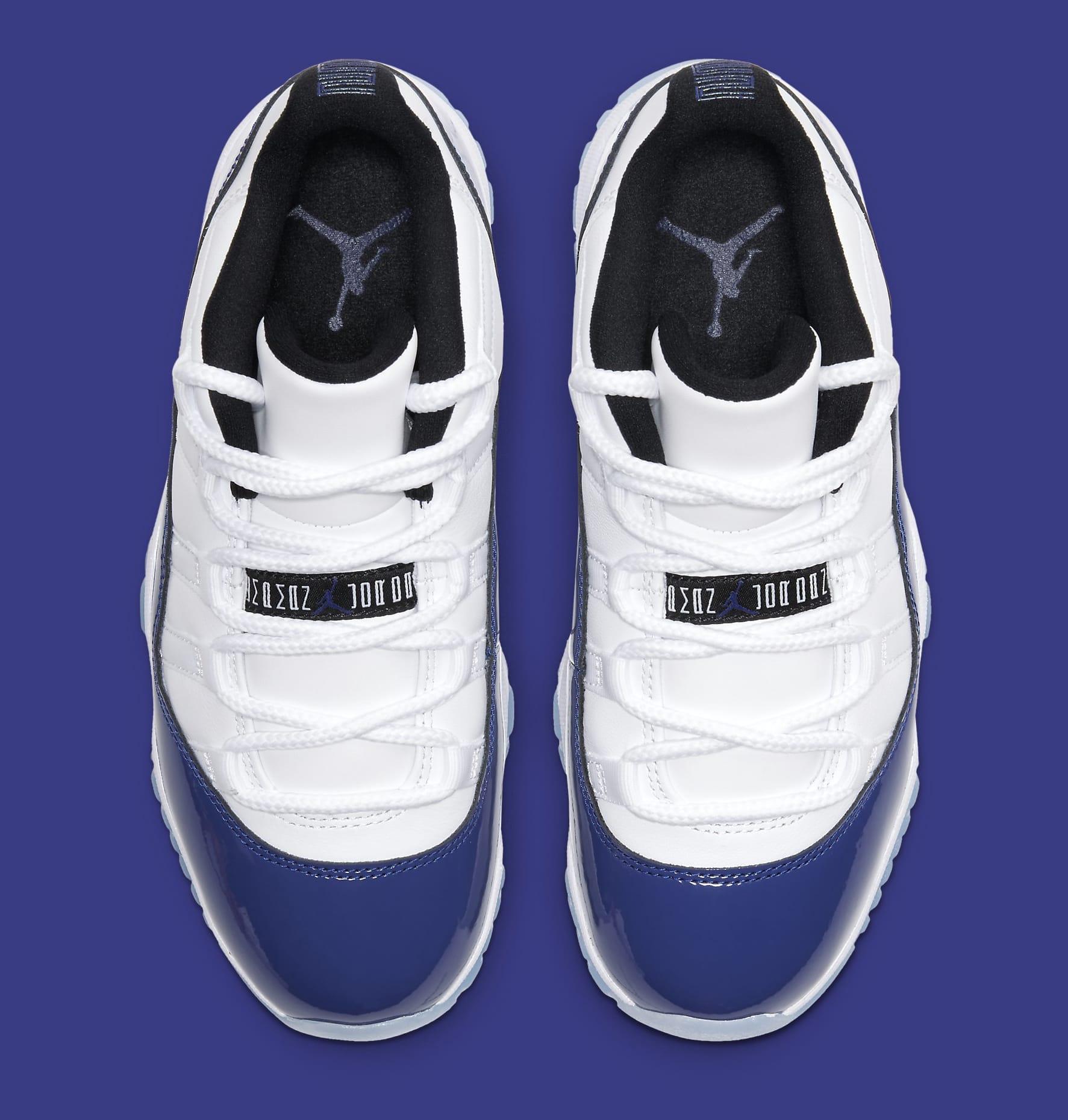 Air Jordan 11 Retro Low Wmns White Black Concord Release Date