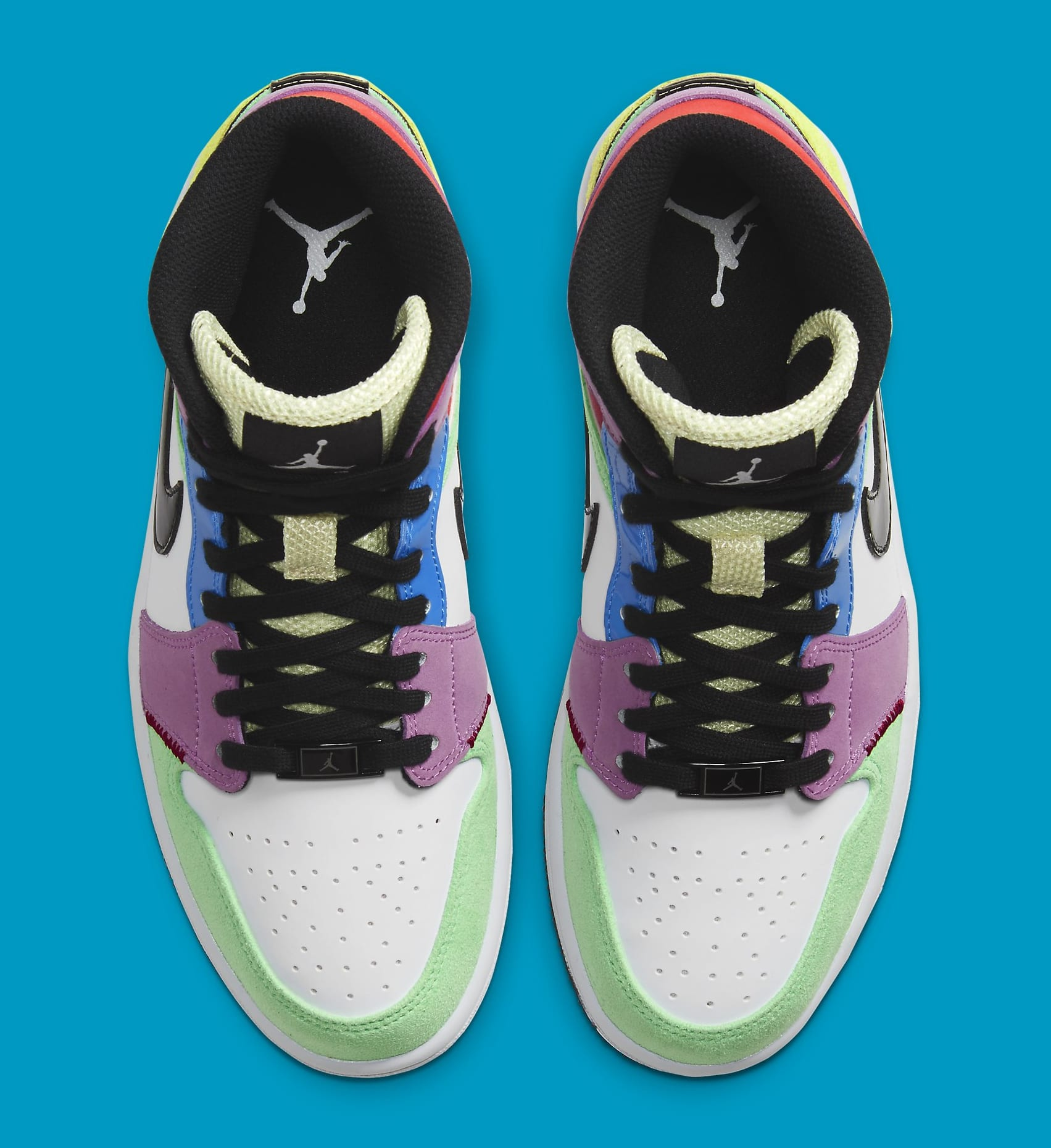 Air Jordan 1 Retro Mid Women's 'Multicolor' CW1140-100 Top