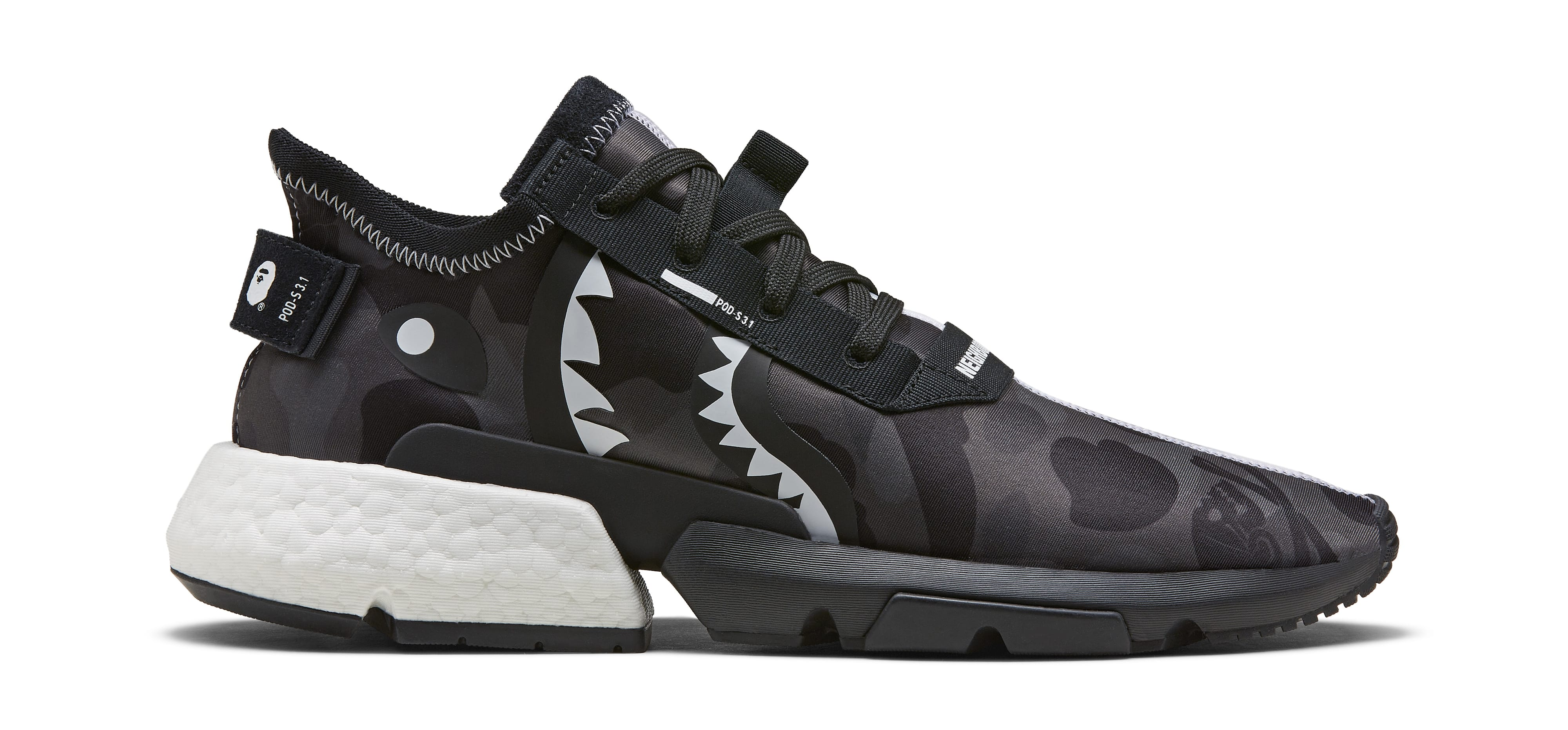 49559586f197b Bape x Neighborhood x Adidas POD 3.1 EE9431 NMD STLT EE9702 Release ...