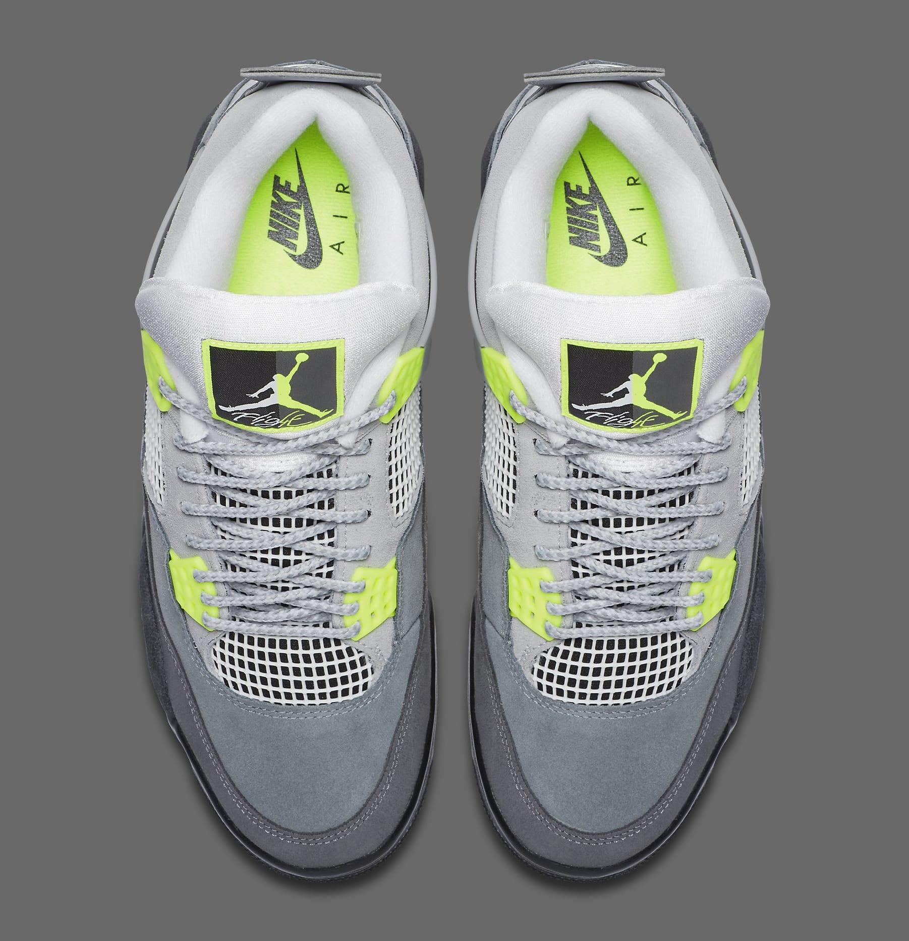 Air Jordan 4 Retro 'Neon' CT5342-007 Top