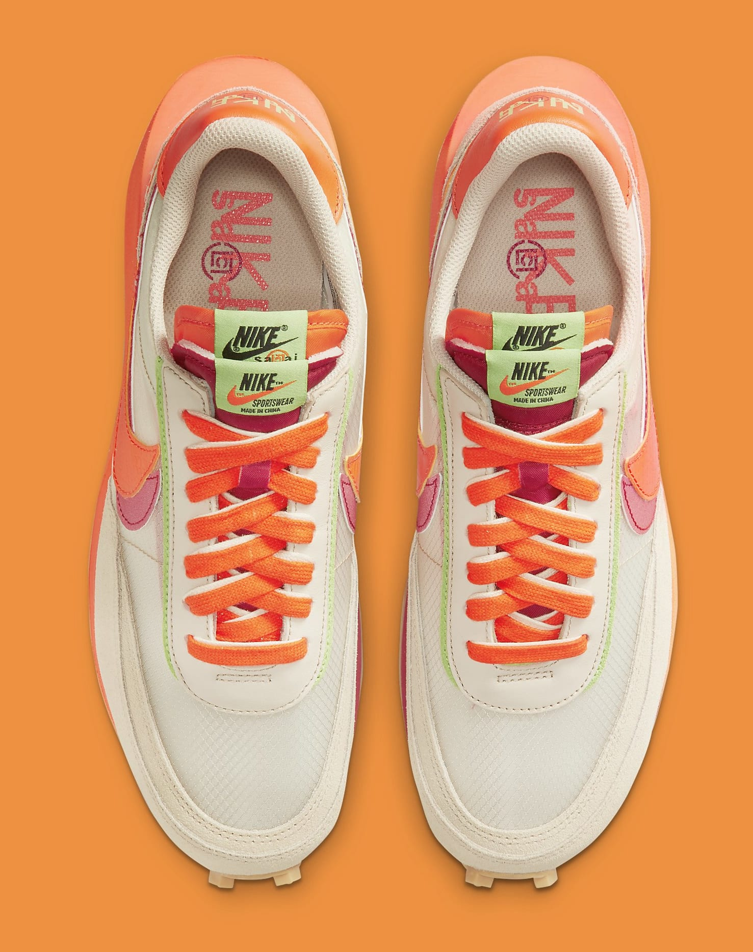 Sacai x Clot x Nike LDWaffle DH1347-100 Top