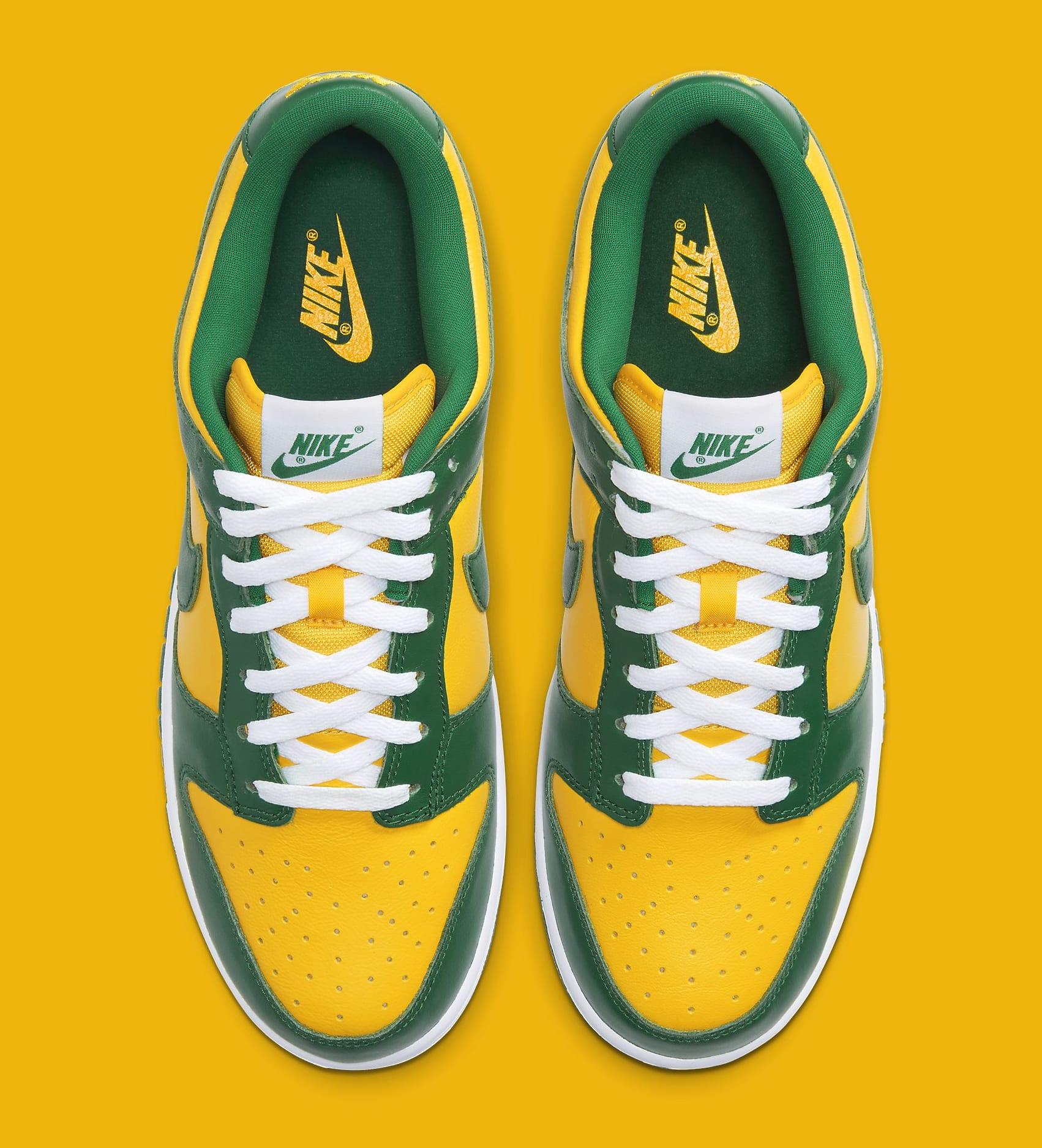 Nike Dunk Low 'Brazil' 2020 CU1727-700 Top