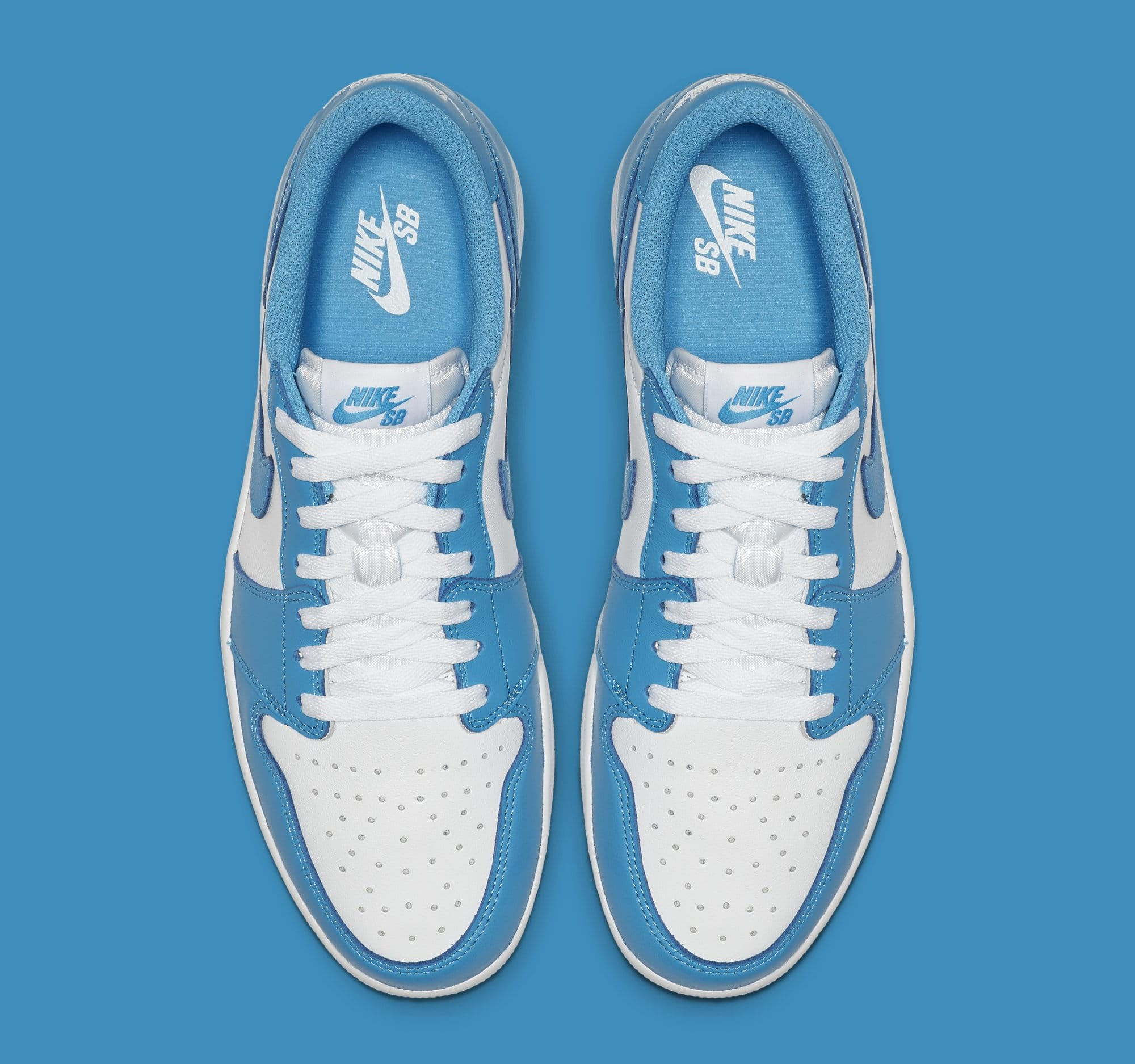 Nike SB x Air Jordan 1 Low 'Koston' Dark Powder Blue CJ7891-401 (Top)