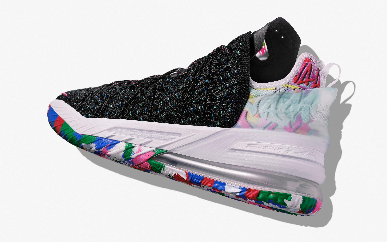 Nike LeBron 18 'Multicolor' Heel