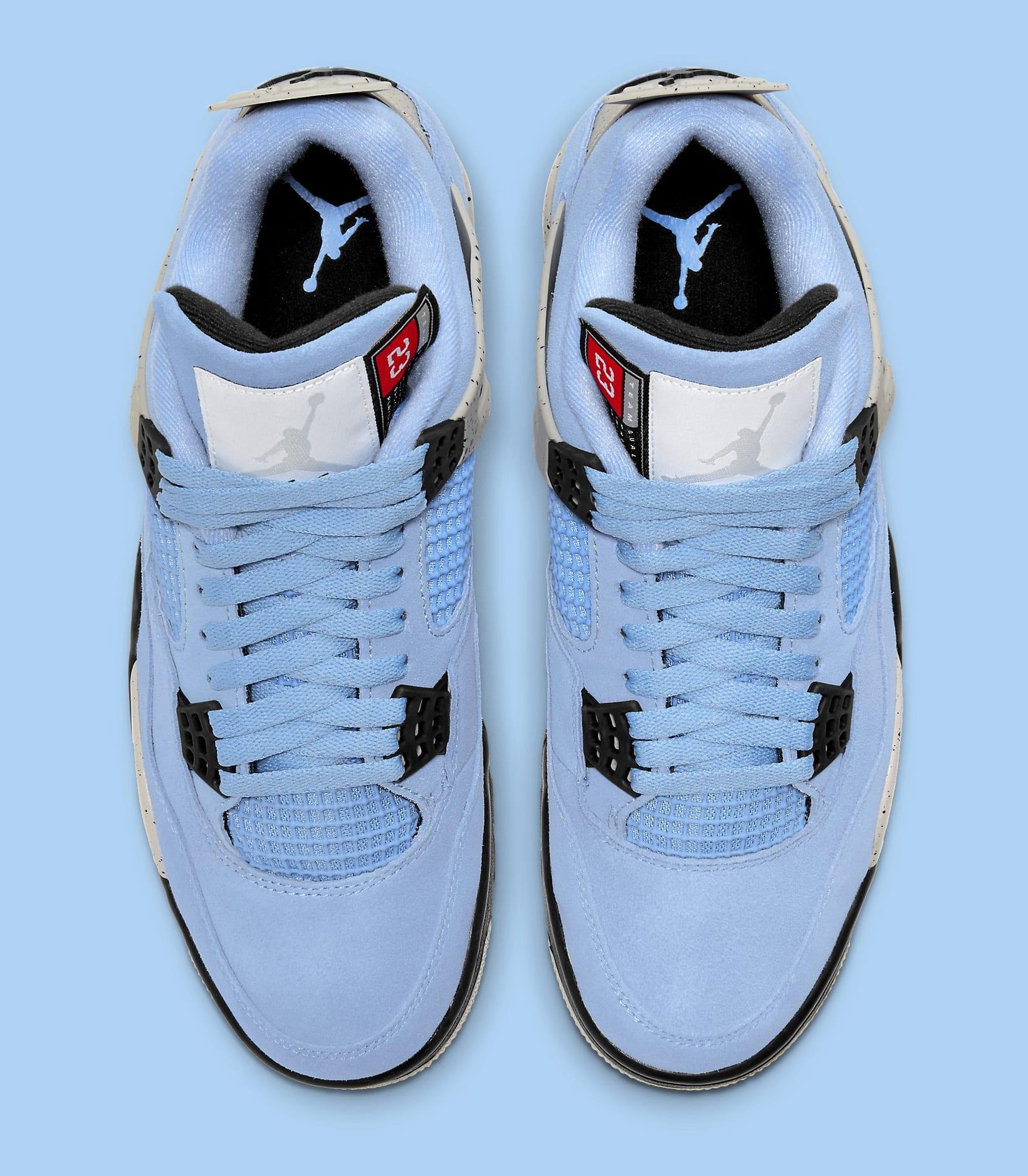 Air Jordan 4 Retro 'UNC' CT8527-400 Top