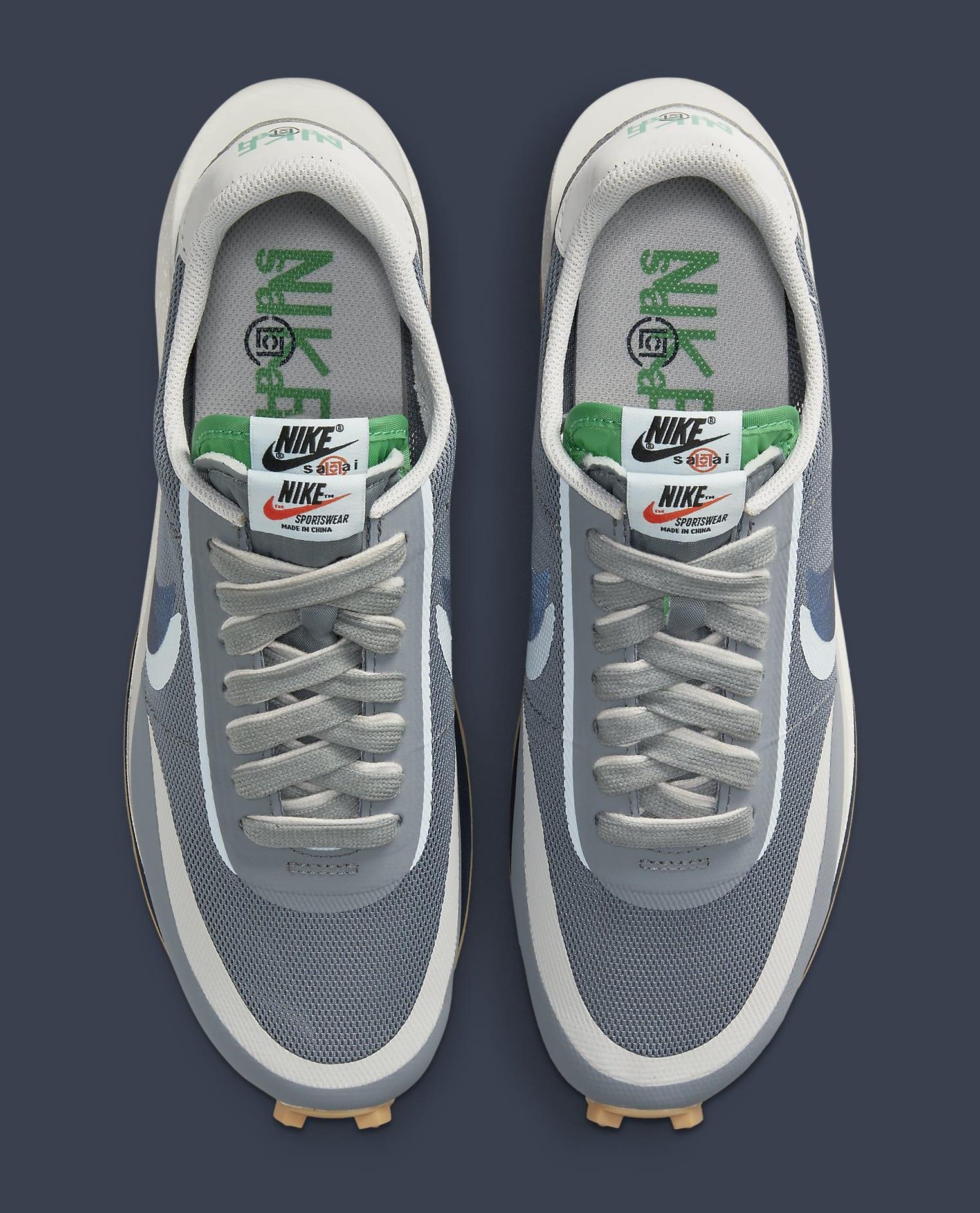 Clot x Sacai x Nike LDWaffle 'Cool Grey' DH3114-001 Top