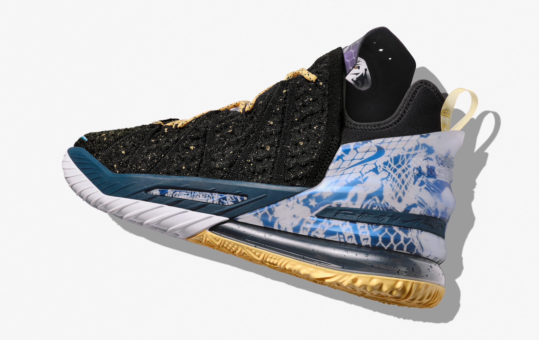 Nike LeBron 18 'Reflections' Heel