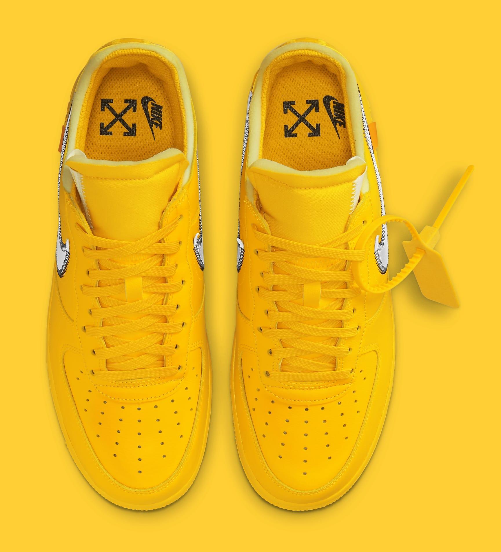Off-White x Nike Air Force 1 Low 'Lemonade' DD1876-700 Top