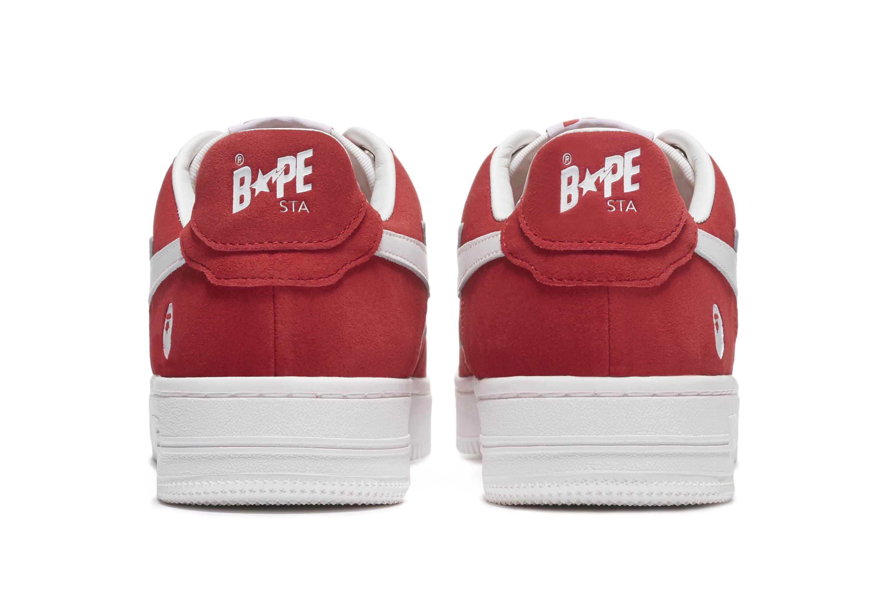 Bape Sta Suede 'Red' Heel