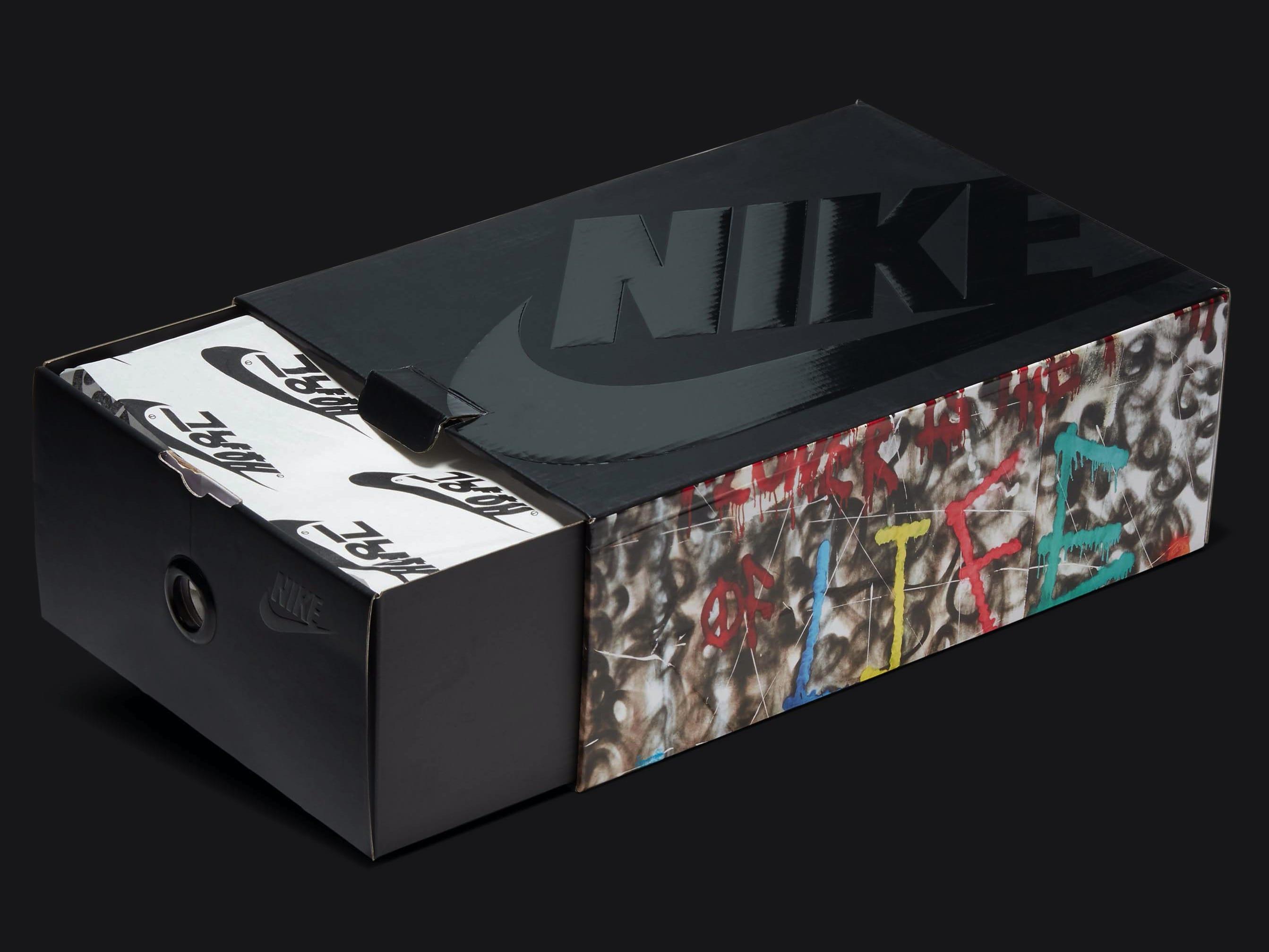 G-Dragon x Nike Air Force 1 Para-Noise Release Date DD3223-100 Box