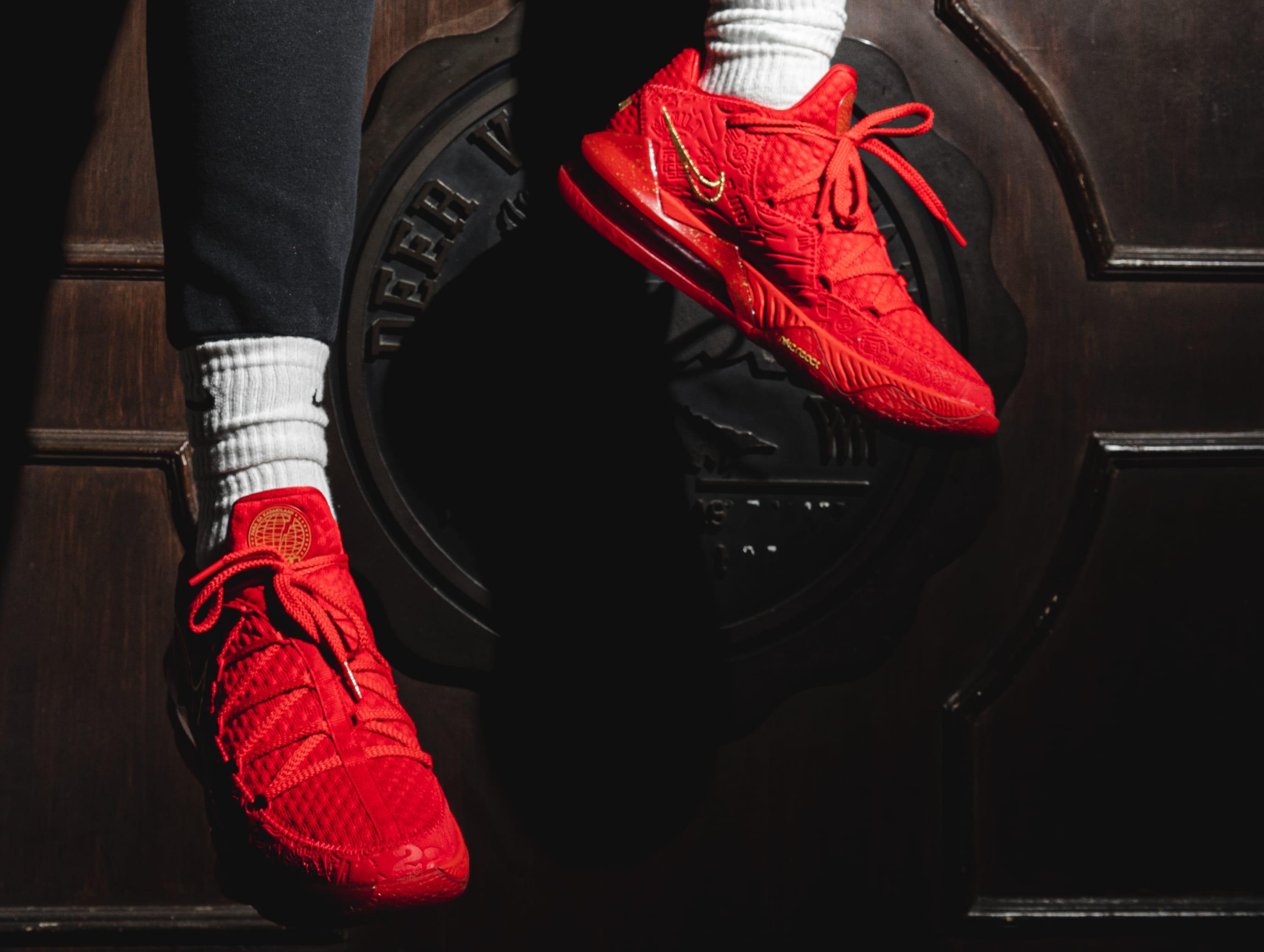 Titan x Nike LeBron 17 Low CD5008-600 (On-Foot)