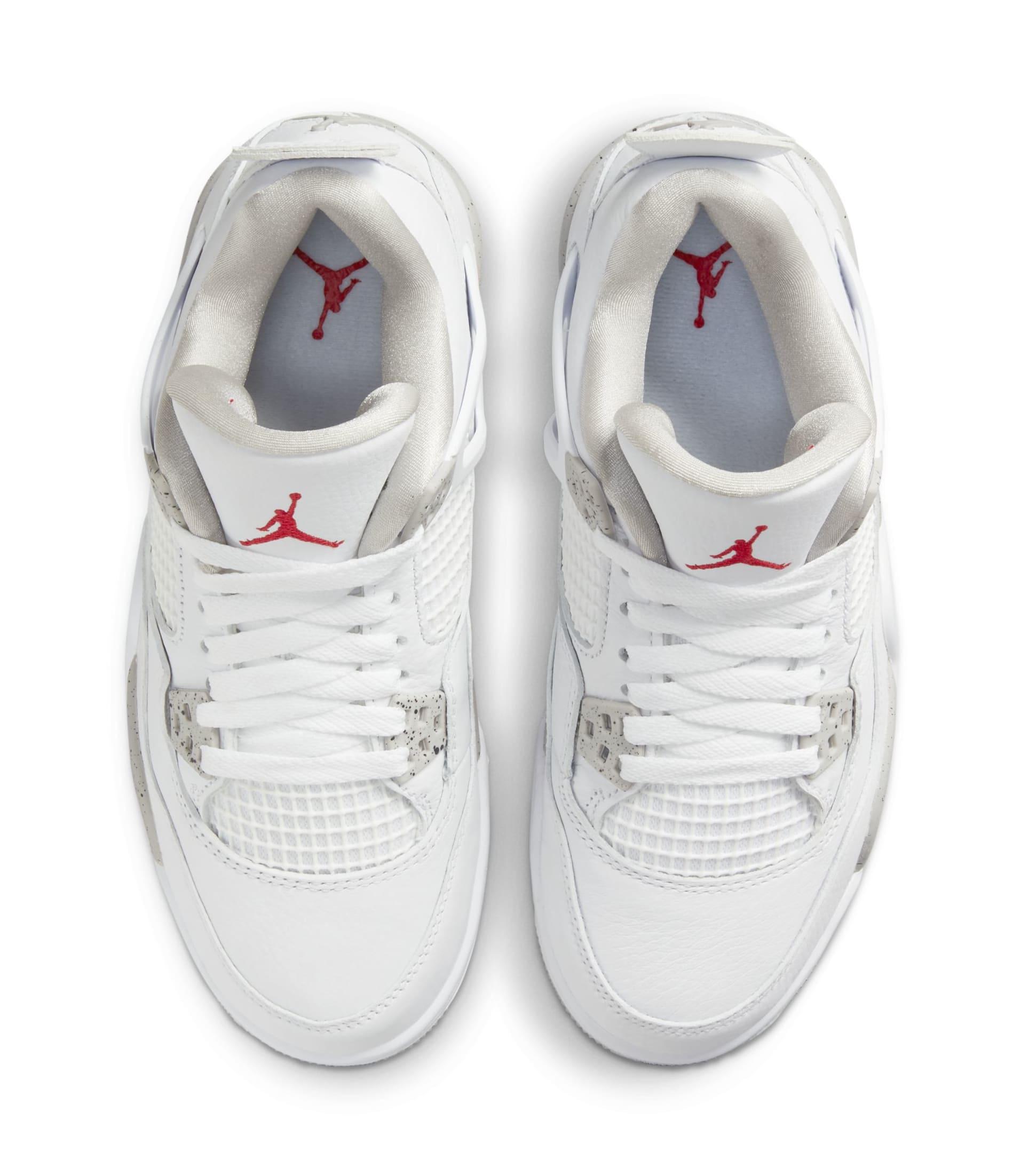 Air Jordan 4 White/Tech Grey/Black/Fire Red CT8527-100 Top