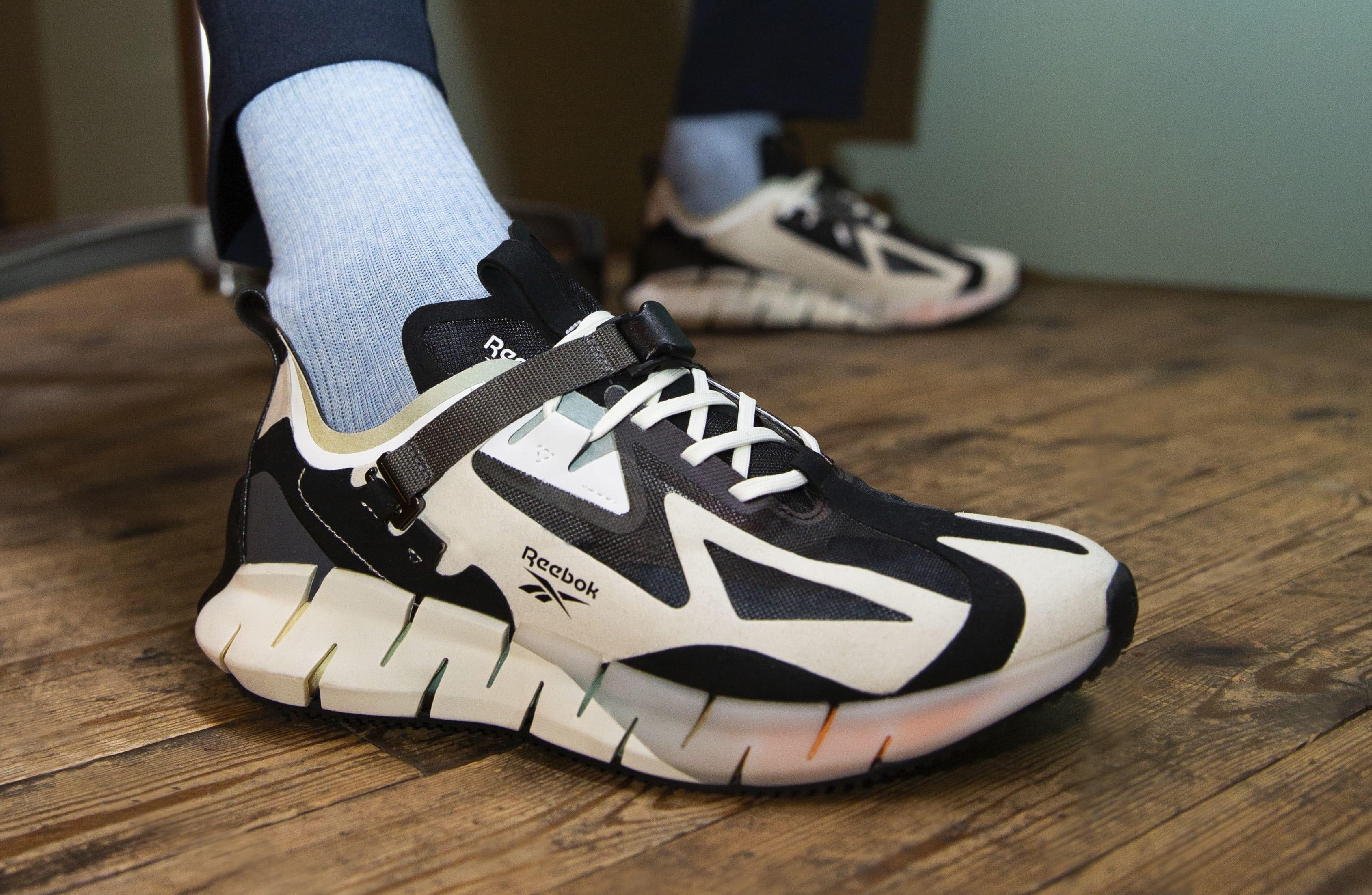 Reebok Zig Kinetica Concept Type 1 (White/Black On-Foot)