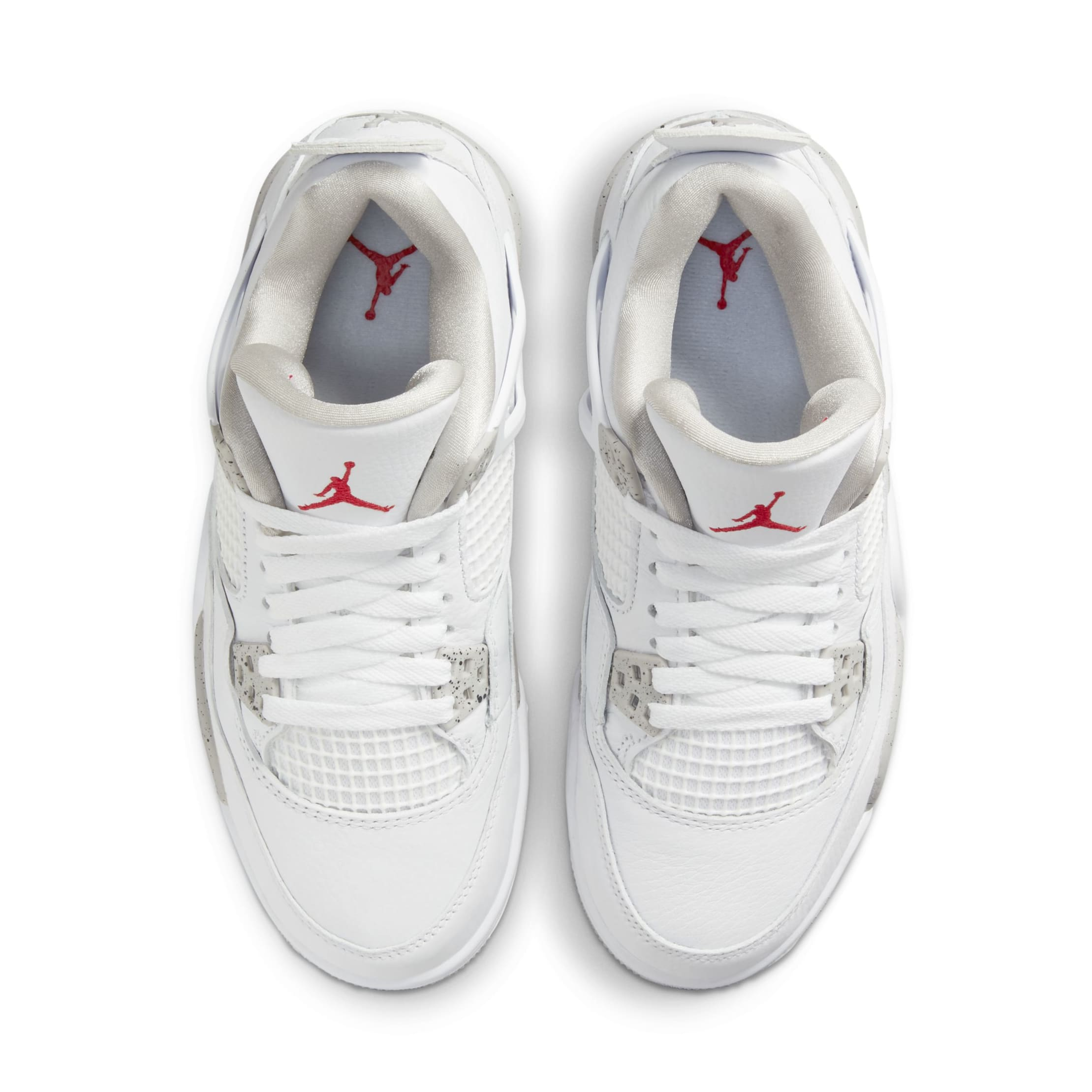 Air Jordan 4 White/Tech Grey/Black/Fire Red CT8527-100 Top