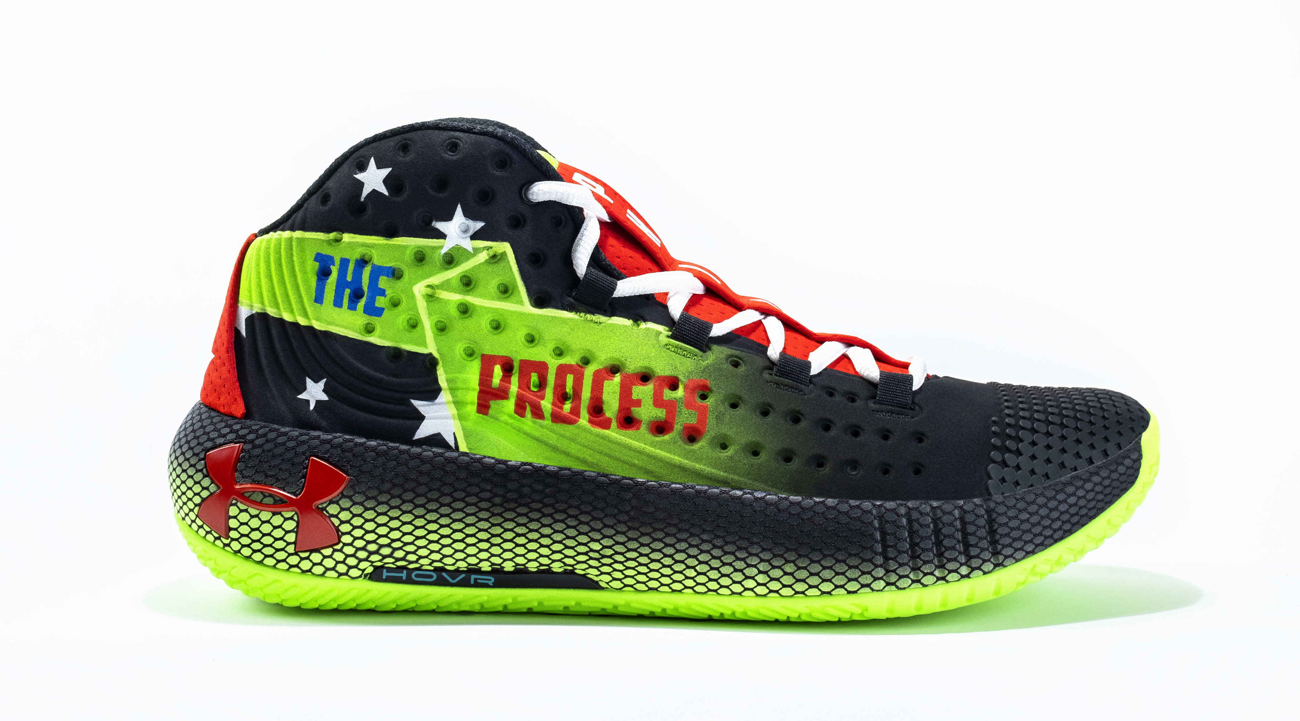 Joel Embiid x Mountain Dew Under Armour HOVR Havoc Custom Lateral