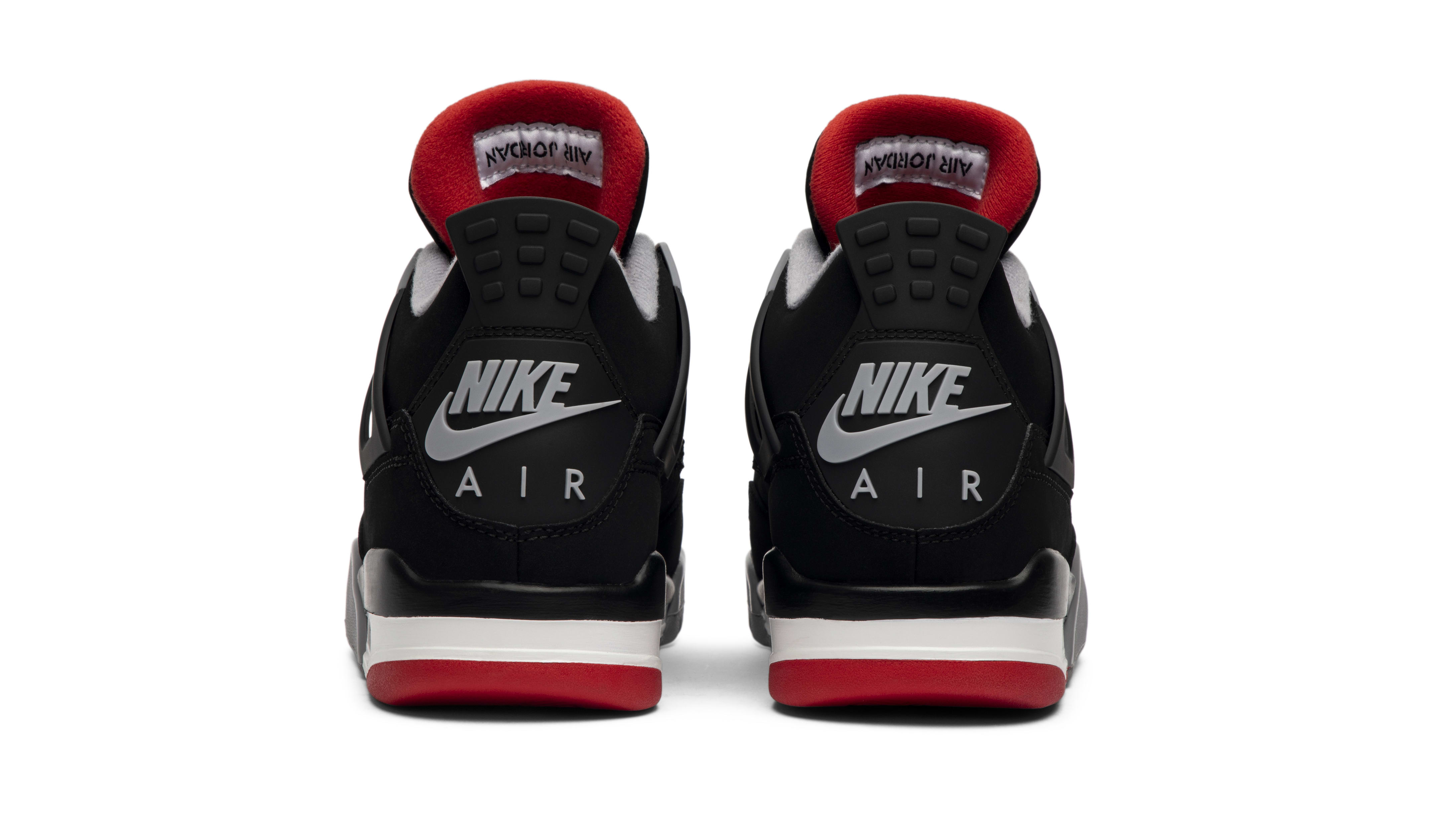 Air Jordan 4 'Bred' 2019 (Heel)