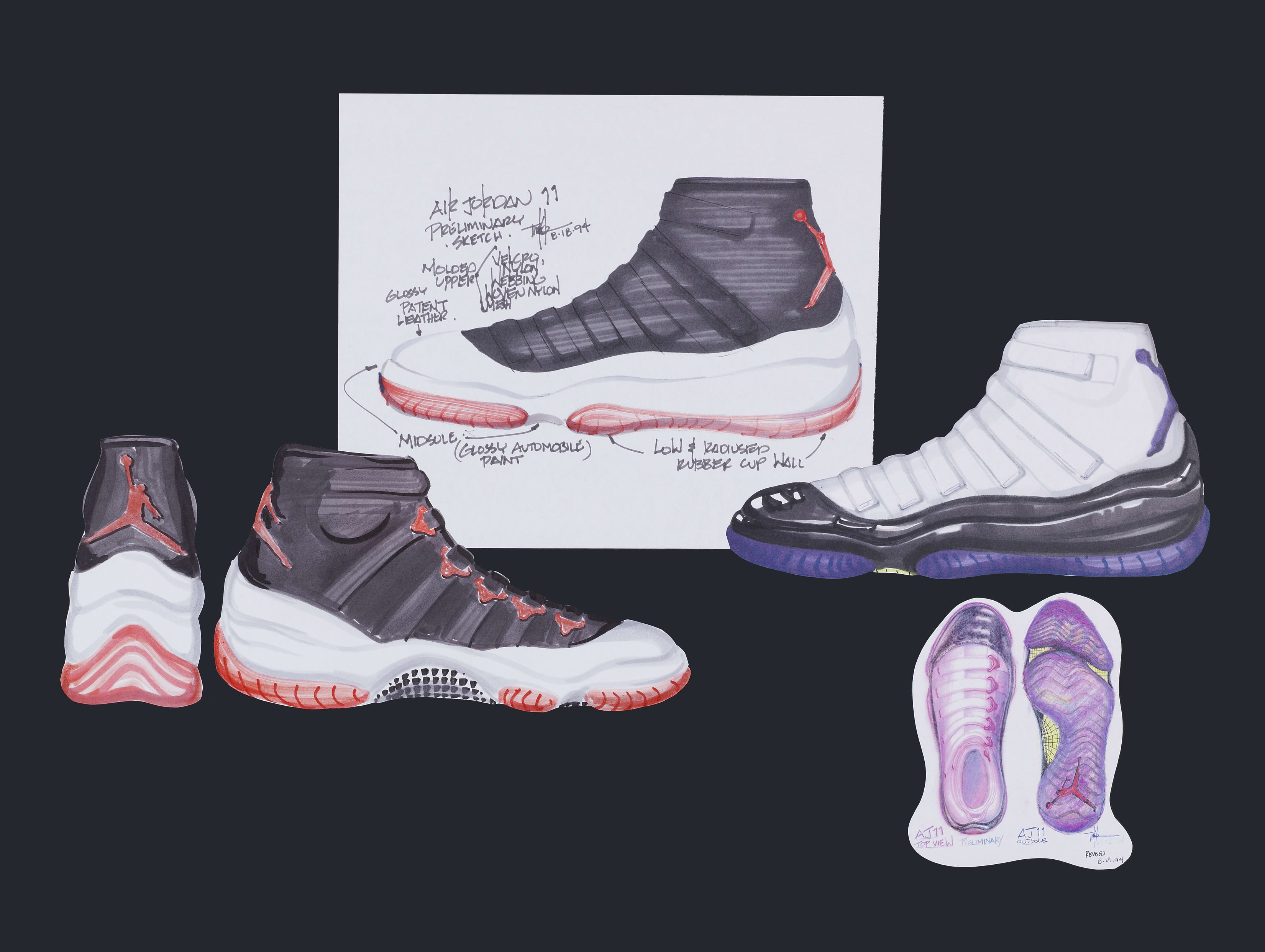 Air Jordan 11 Tinker Hatfield Sketch