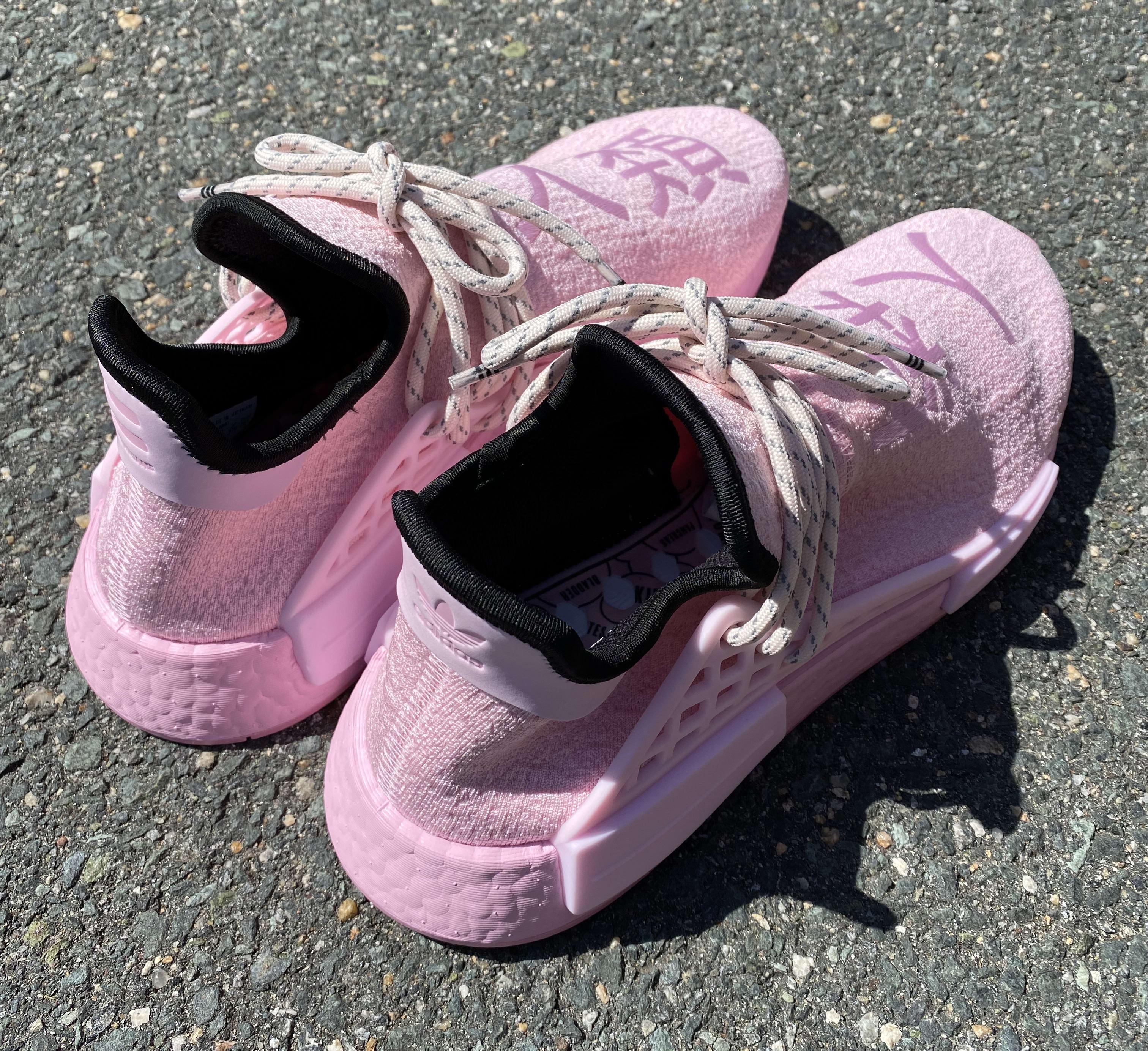 Pharrell x Adidas NMD Hu 'Pink' GY0088 Heel