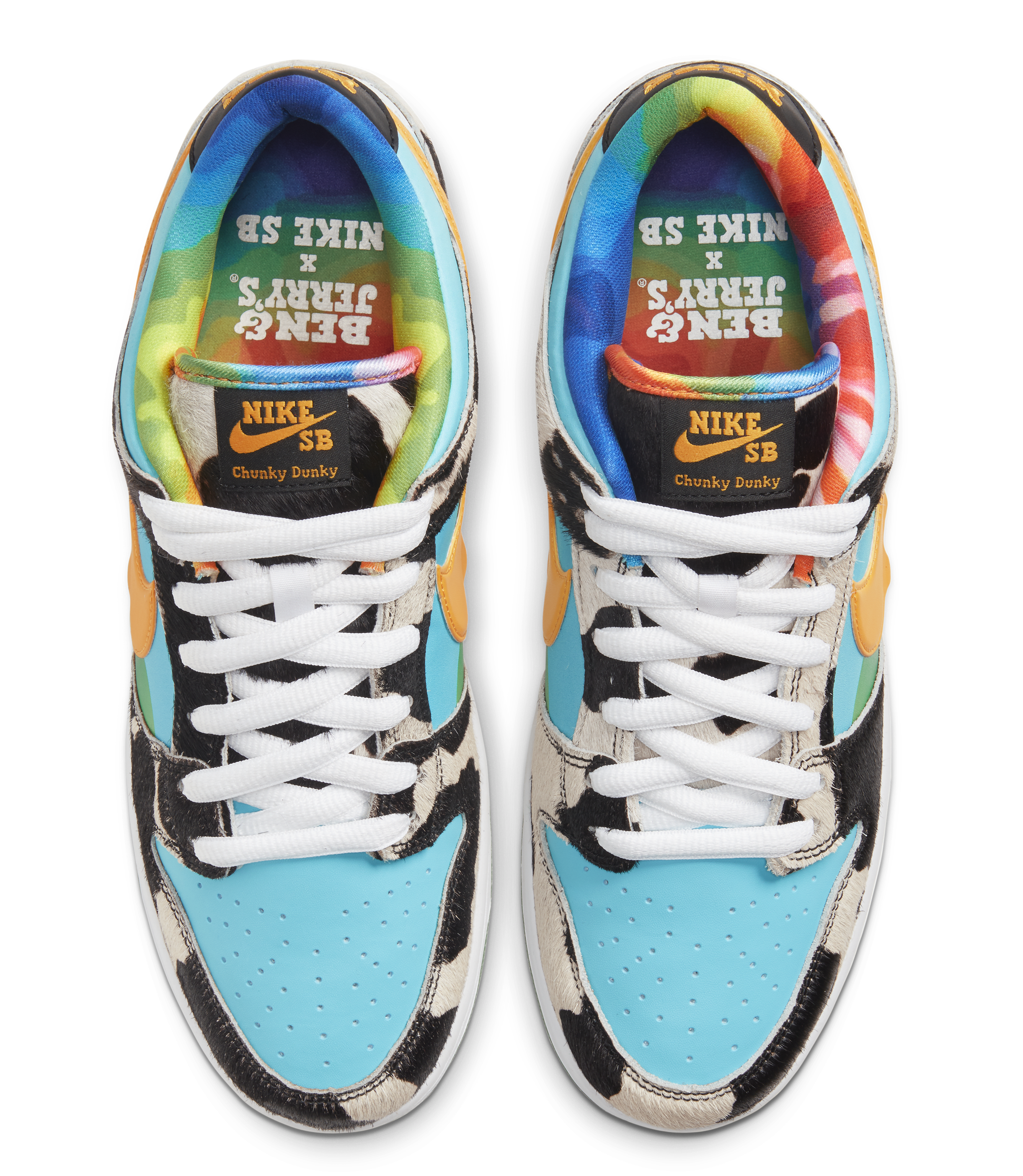 Ben and Jerry's x Nike SB Dunk Low 'Chunky Dunky' CU3244-100 (Top)