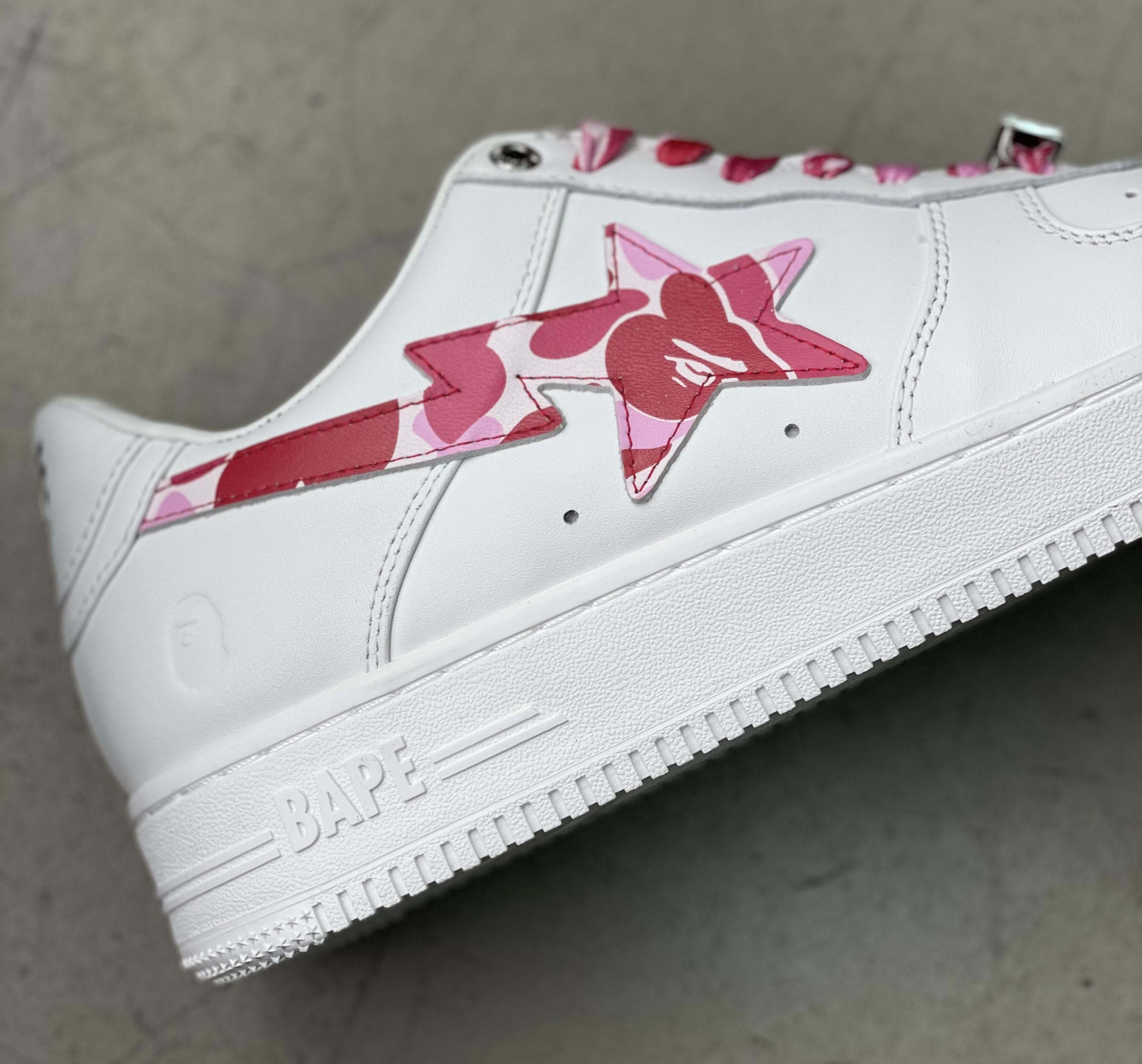 Bape Bape Sta White Pink Camo Lateral