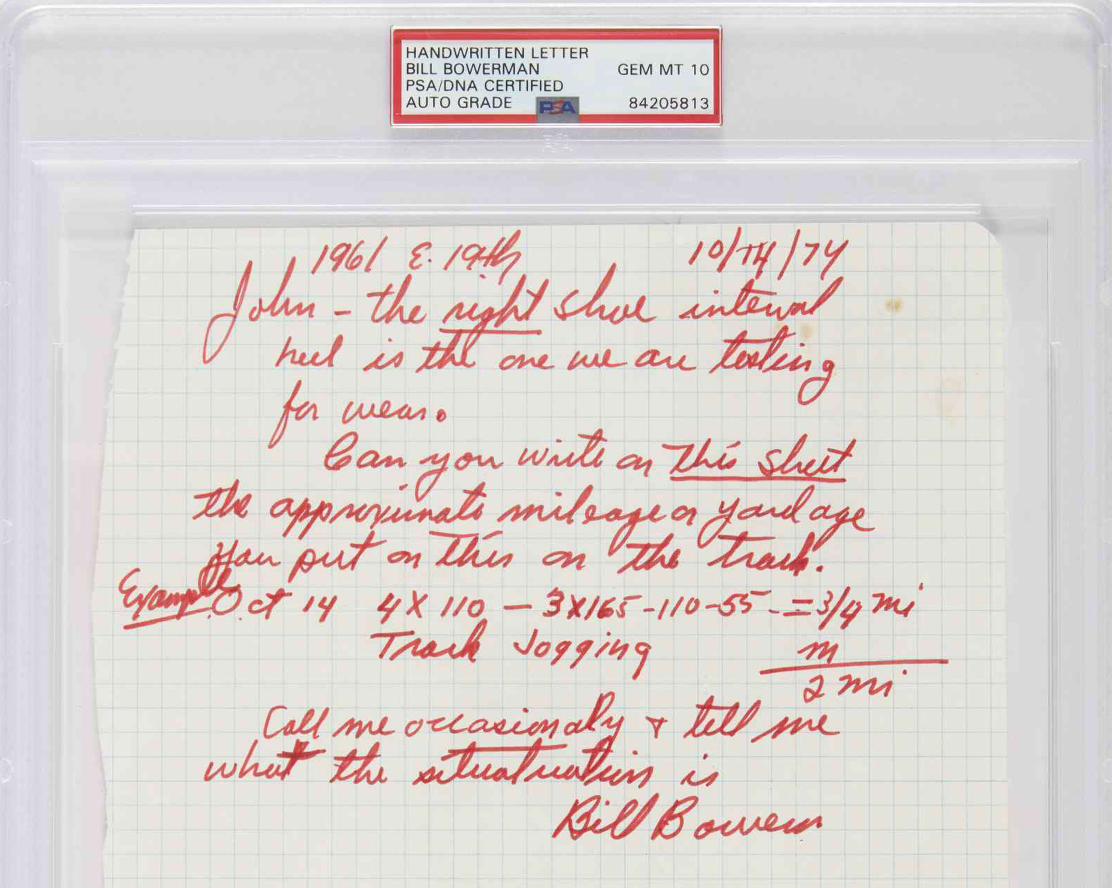 Bill Bowerman Handmade Waffle Spikes (Letter)