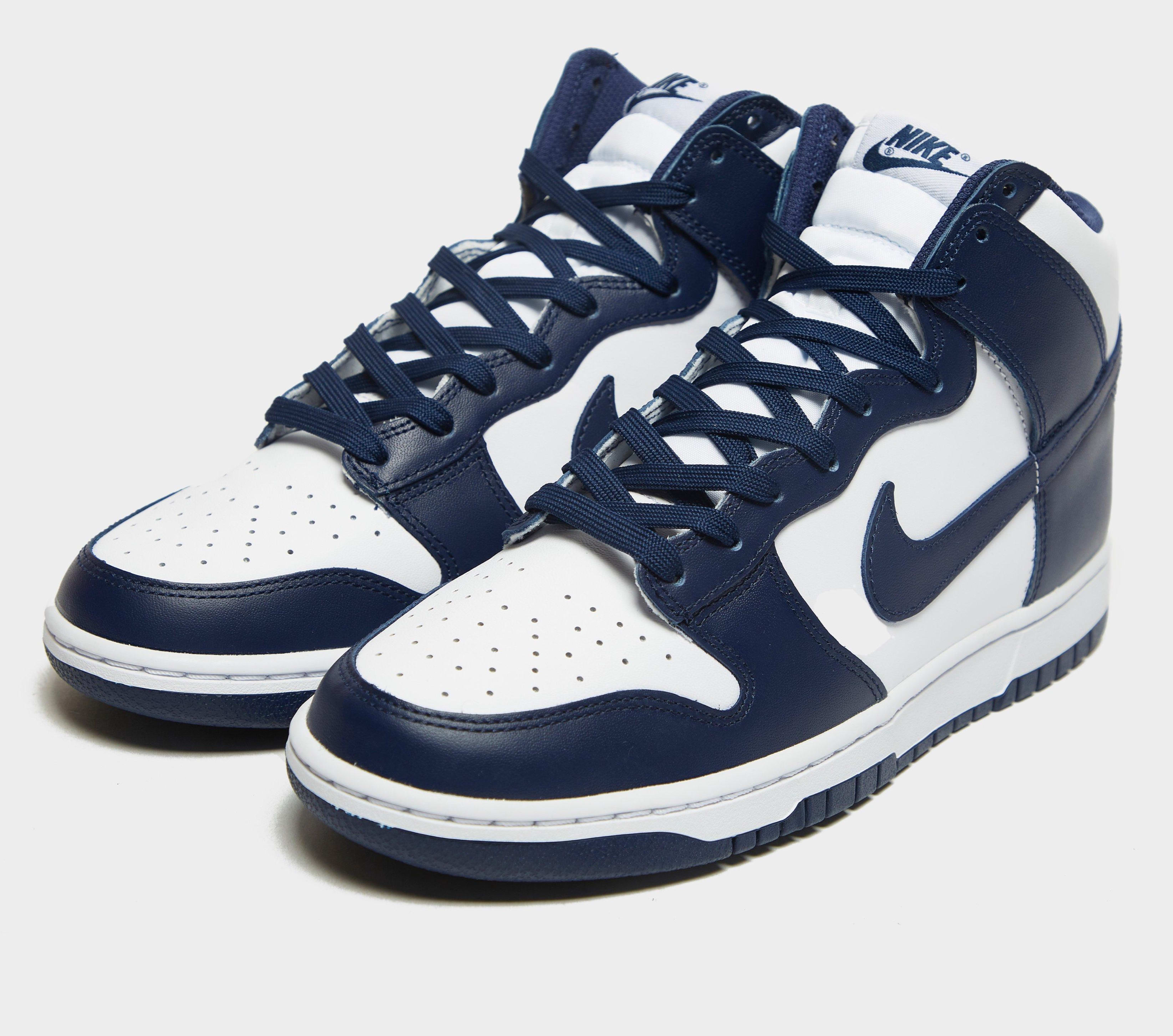 Nike Dunk High Midnight Navy 2021 Release Date Pair