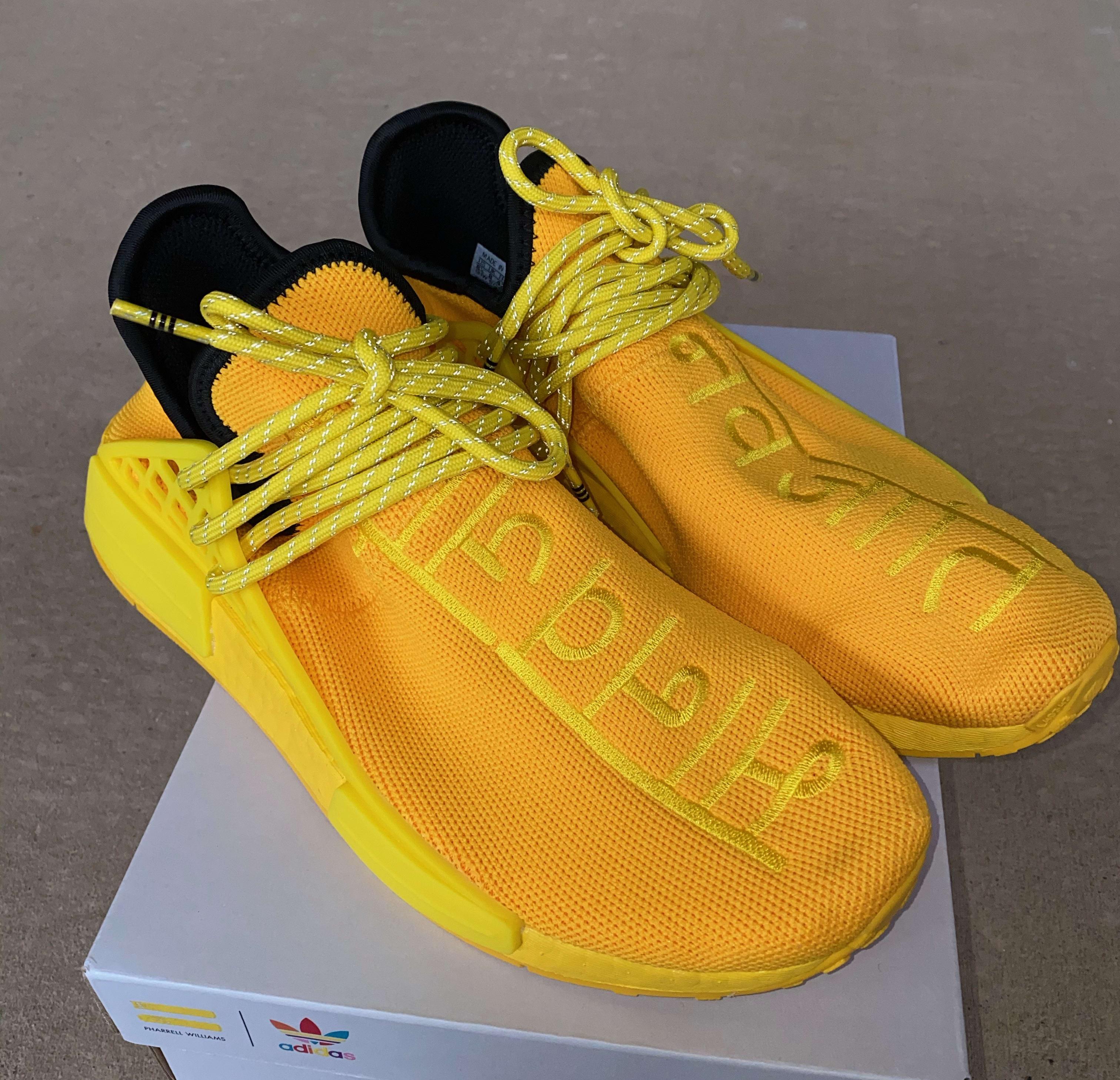 Pharrell x Adidas NMD Hu 'Yellow' GY0091 Side
