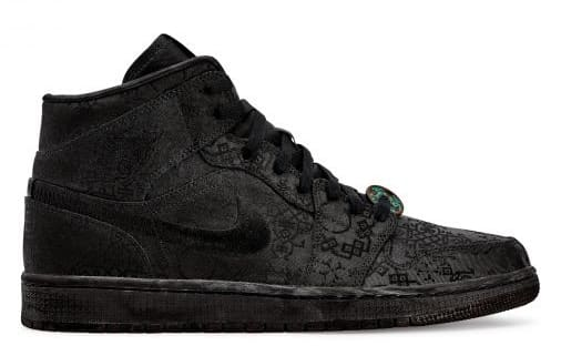 Clot x Air Jordan 1 Mid Black (Lateral)