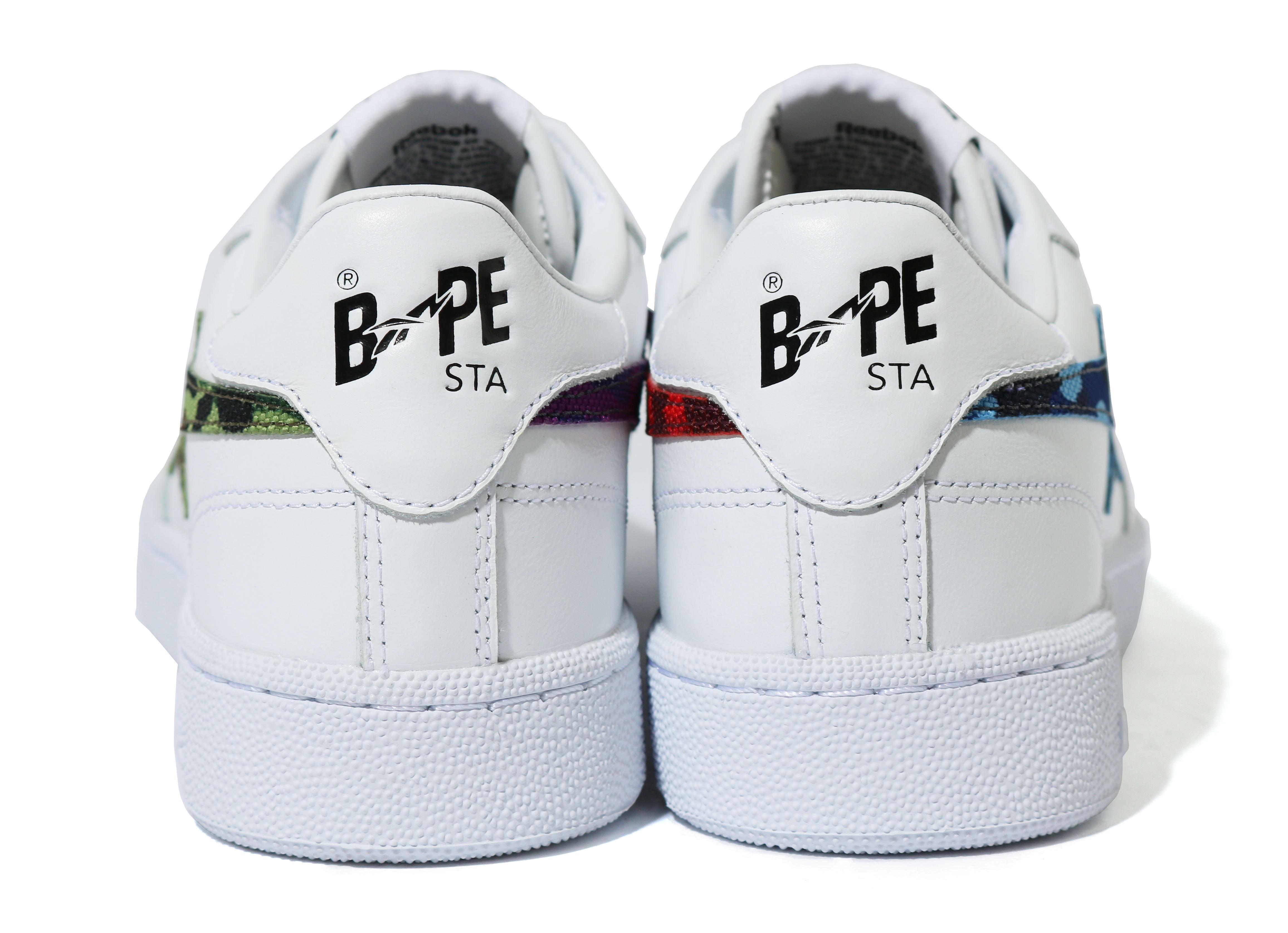 Bape x Reebok Club C FY3603 Heel