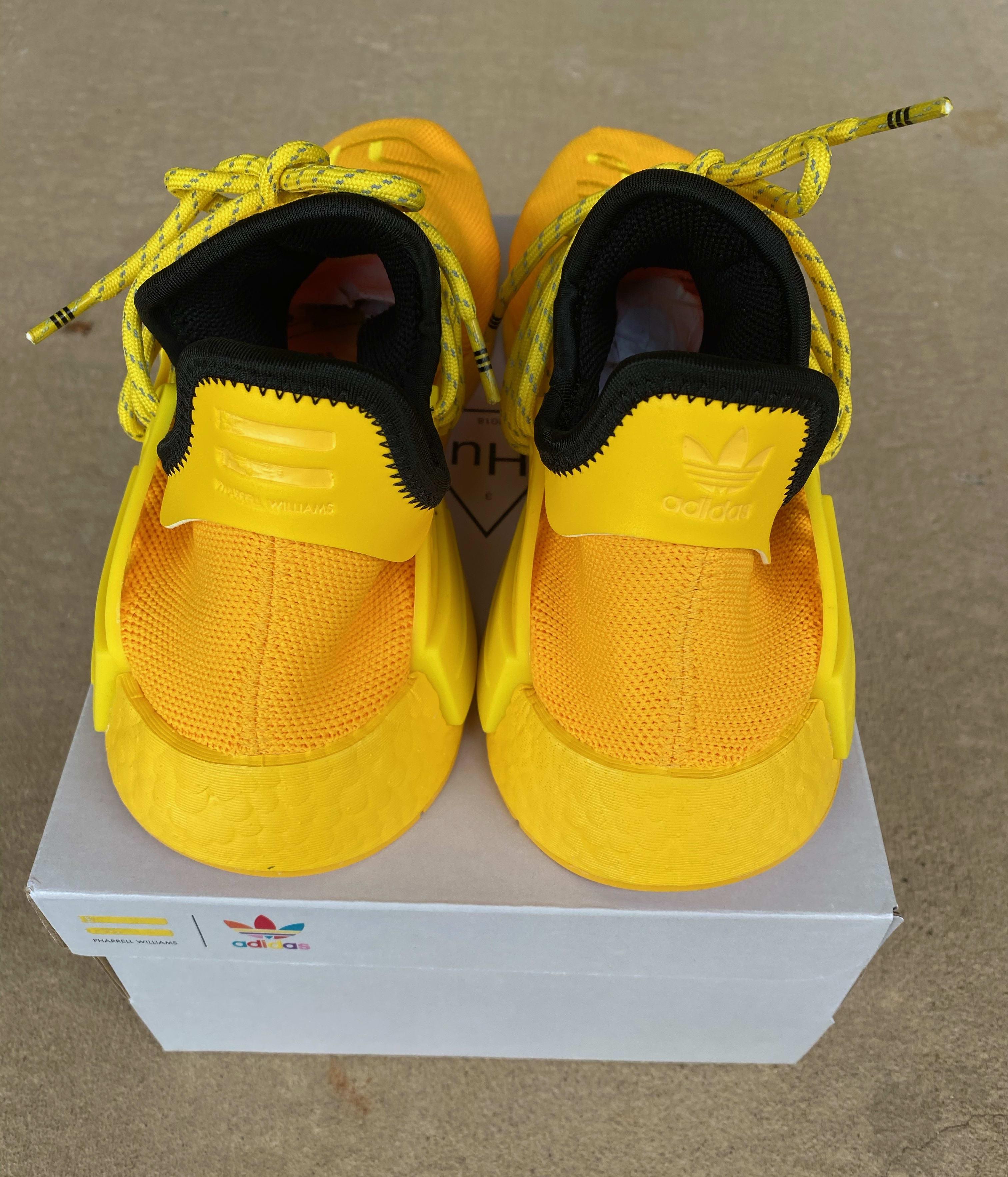 Pharrell x Adidas NMD Hu 'Yellow' GY0091 Heel