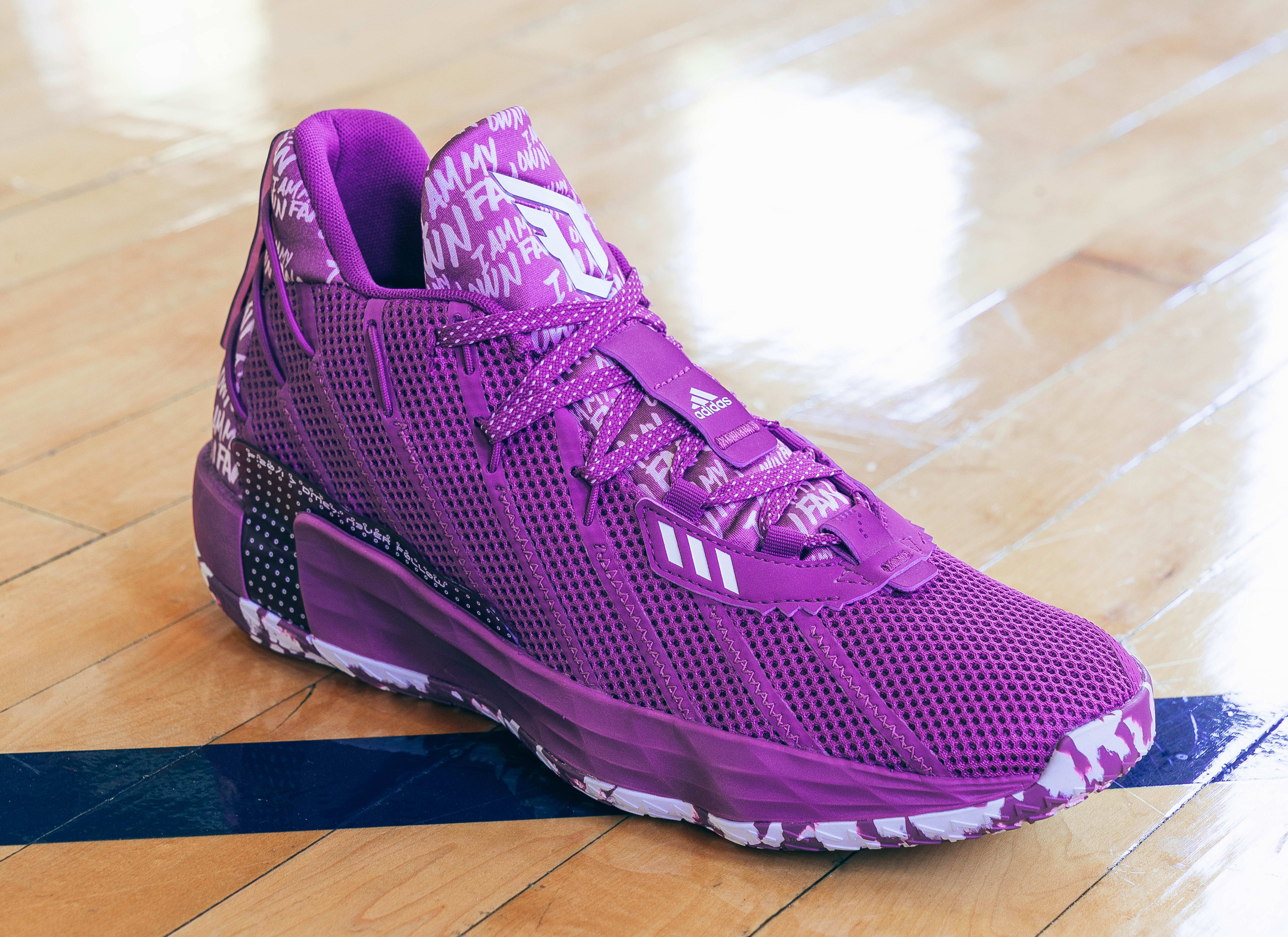 Adidas Dame 7 Purple (Front)