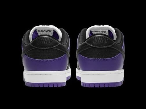 Nike SB Dunk Low Court Purple Release Date BQ6817-500 Heel