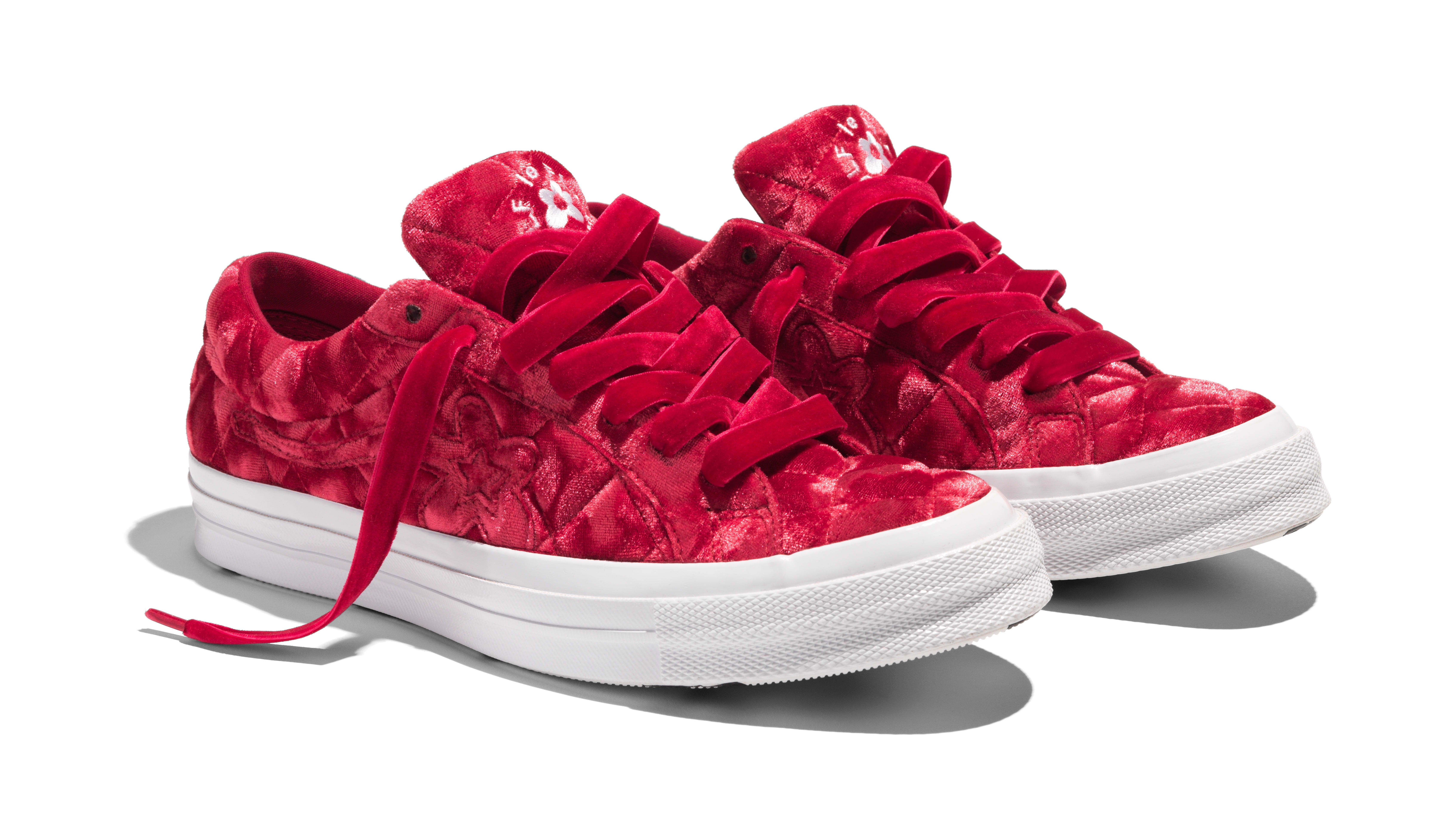 Converse x Golf Le Fleur 'Quilted Velvet' (Red)