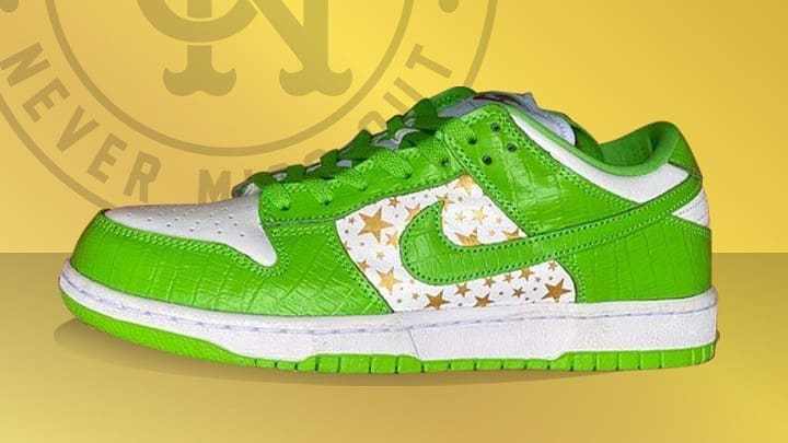 Supreme x Nike SB Dunk Low 'Green' 2021 First Look