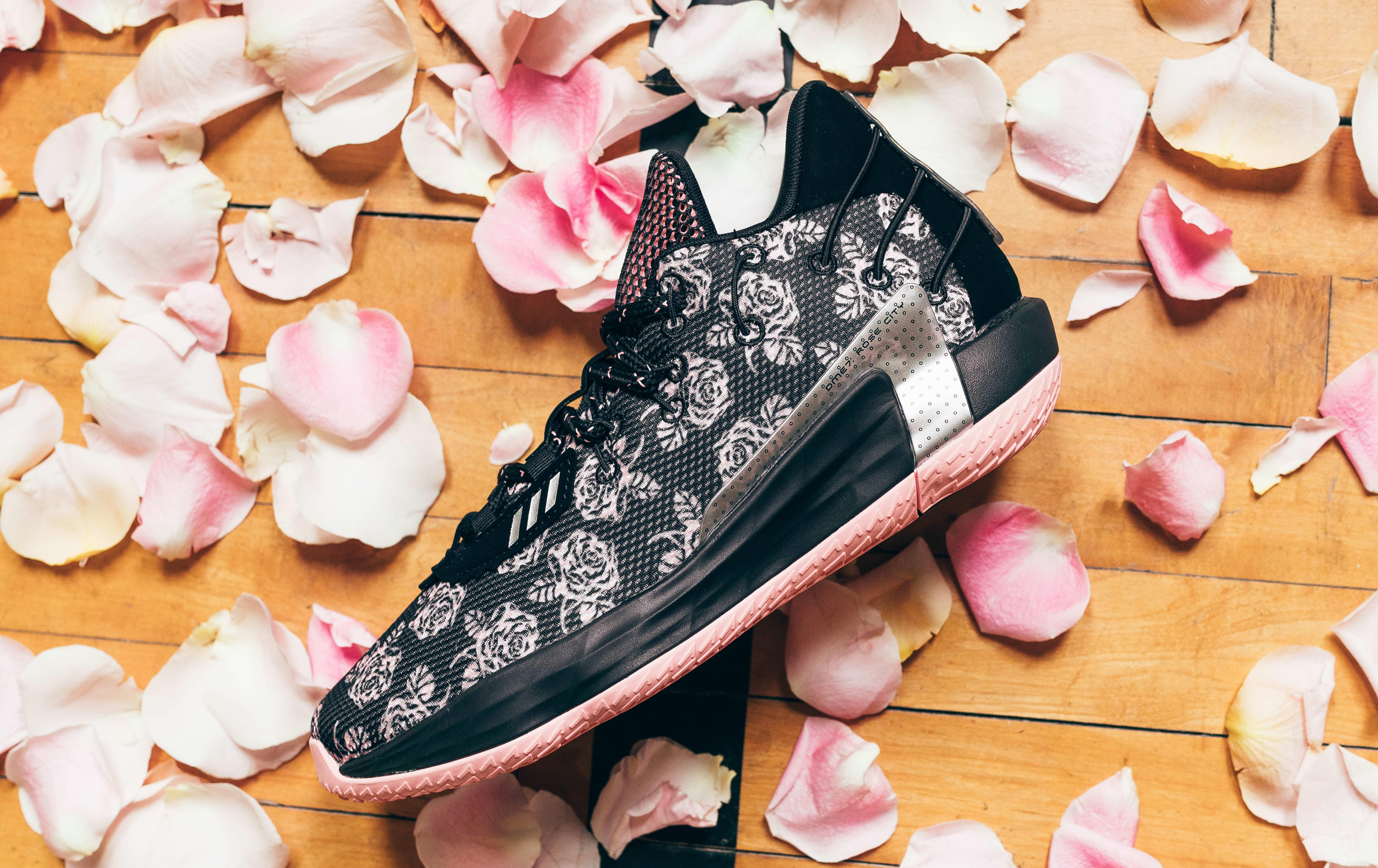 Adidas Dame 7 'Rose' Lateral