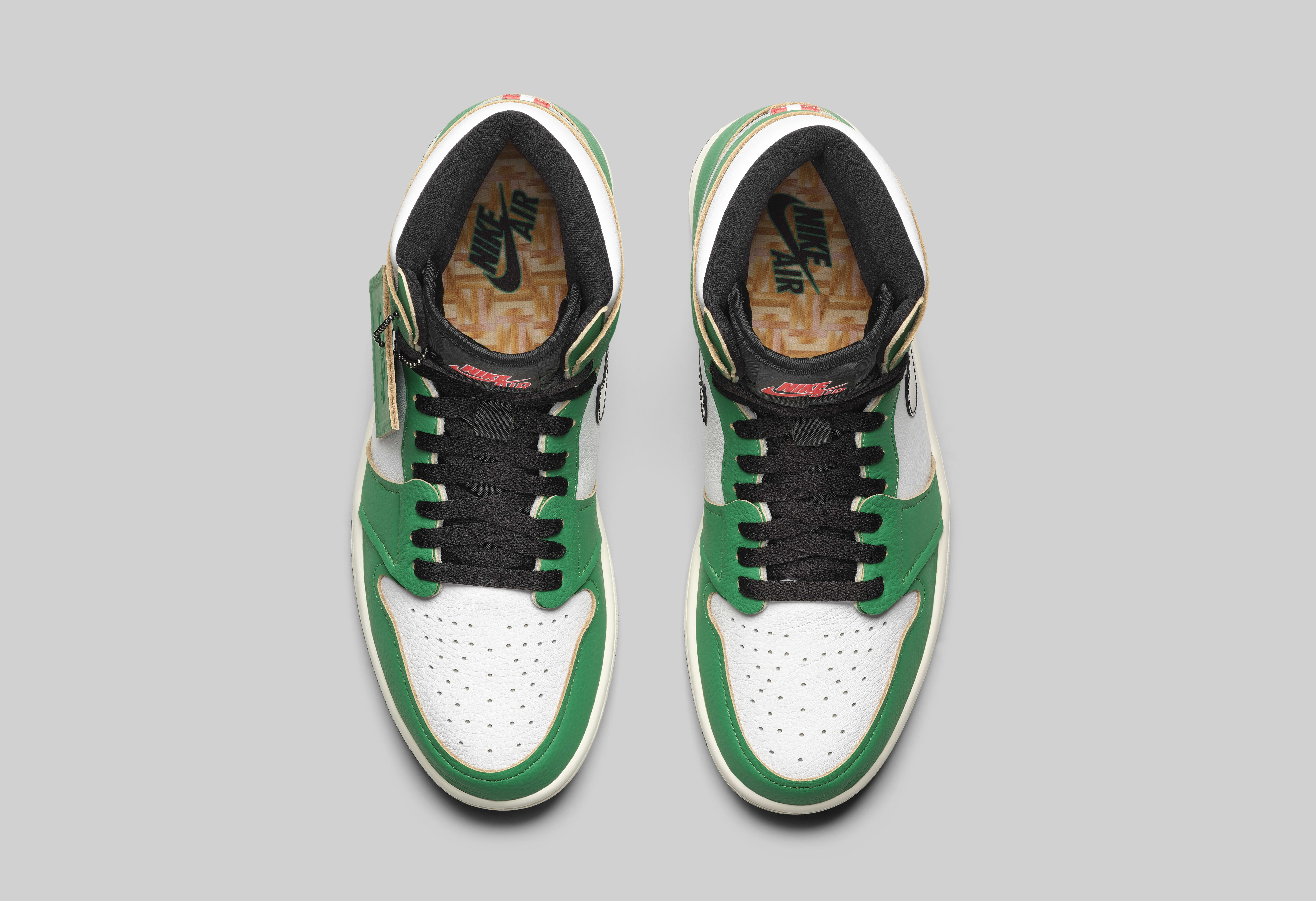 Air Jordan 1 High Women's 'Lucky Green' DB4612-300 Top