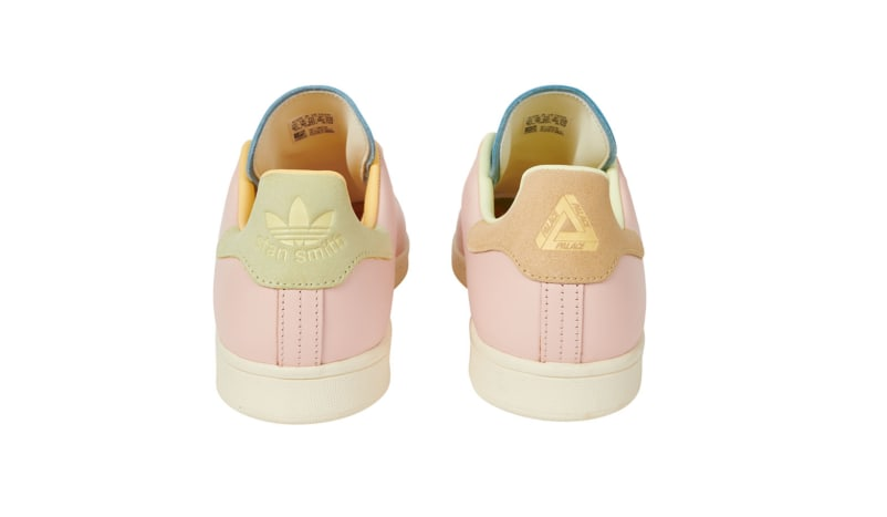 Palace x Adidas Stan Smith Pink/Blue Heel