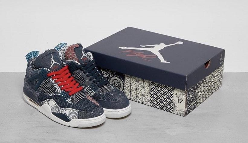 Air Jordan 4 Retro 'Sashiko' CW0898-400 Pair and Box