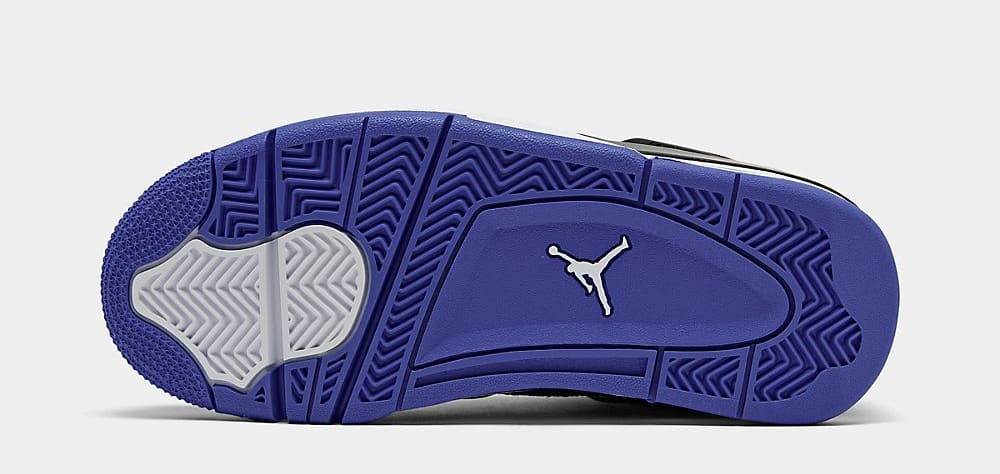 Air Jordan 4 'Black/White/Rush Violet/Racer Blue' BQ9043-005 (Sole)