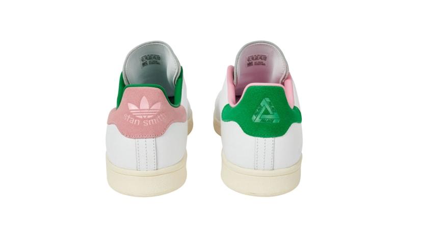Palace x Adidas Stan Smith White/Cream Heel