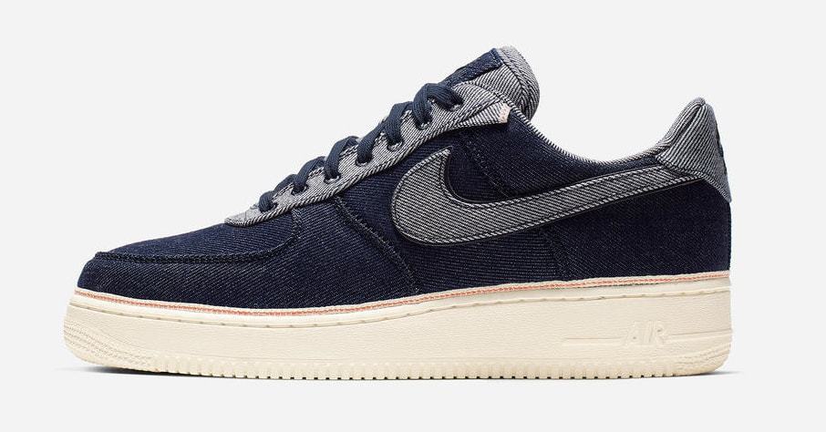 3x1 x Nike Air Force 1 Low 'Raw Indigo' (Lateral)