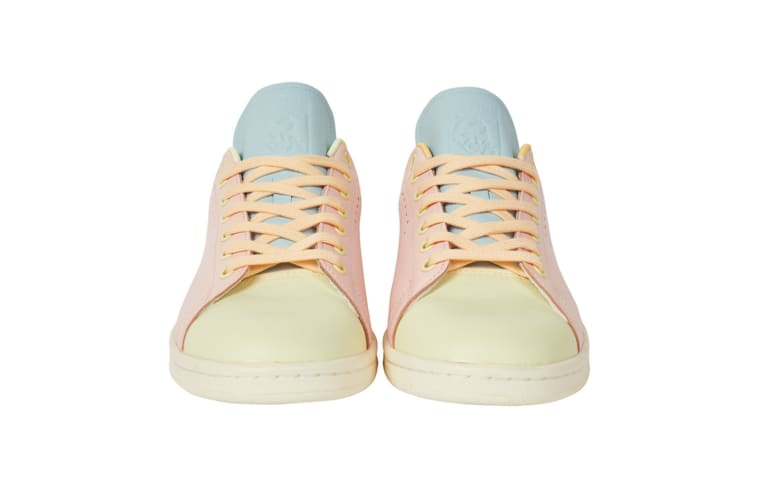 Palace x Adidas Stan Smith Pink/Blue Front