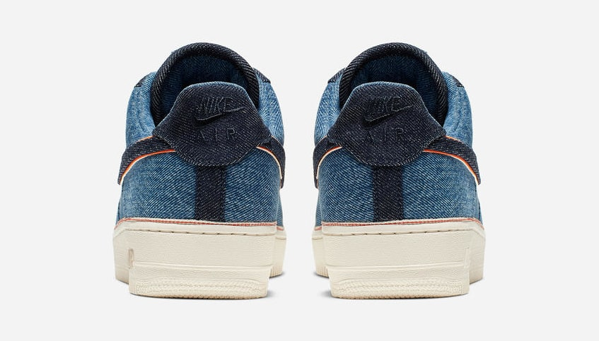 3x1 x Nike Air Force 1 Low 'Stonewash Blue' (Heel)