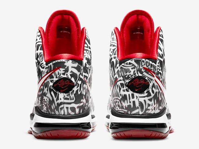Nike LeBron 8 V/2 Graffiti 2021 Release Date Heel