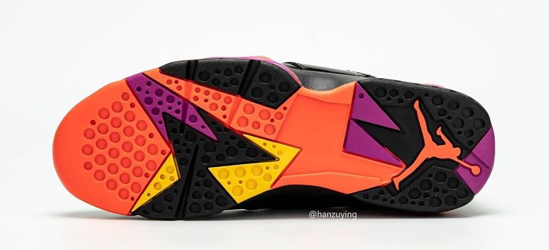 Air Jordan 7 WMNS 'Black Patent Leather' 313358-006 (Sole)