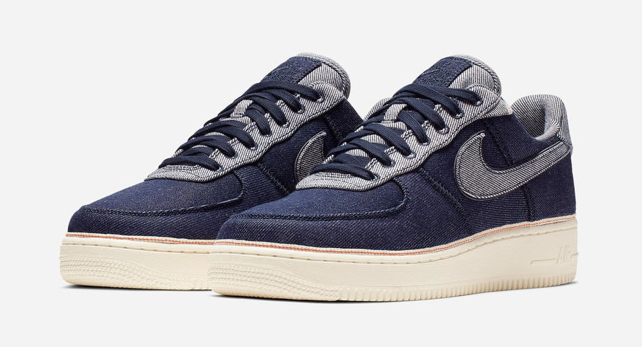 Nike Air Force 1 Low Injected With Denim Uppers Courtesy Of 3 X 1