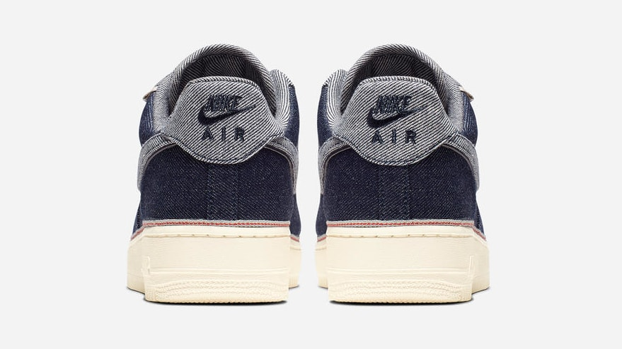 3x1 x Nike Air Force 1 Low 'Raw Indigo' (Heel)